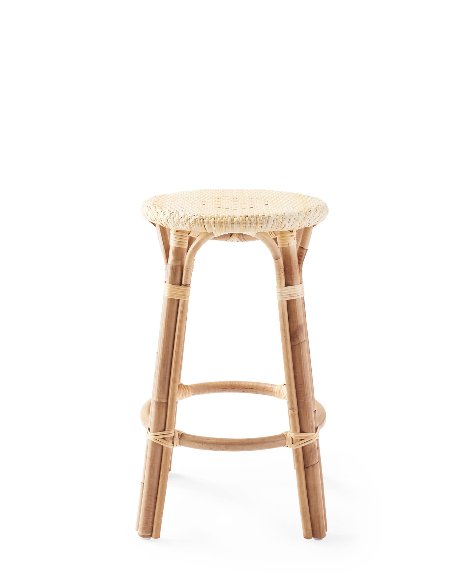 Riviera Backless Counter Stool   Natural by Serena And Lily