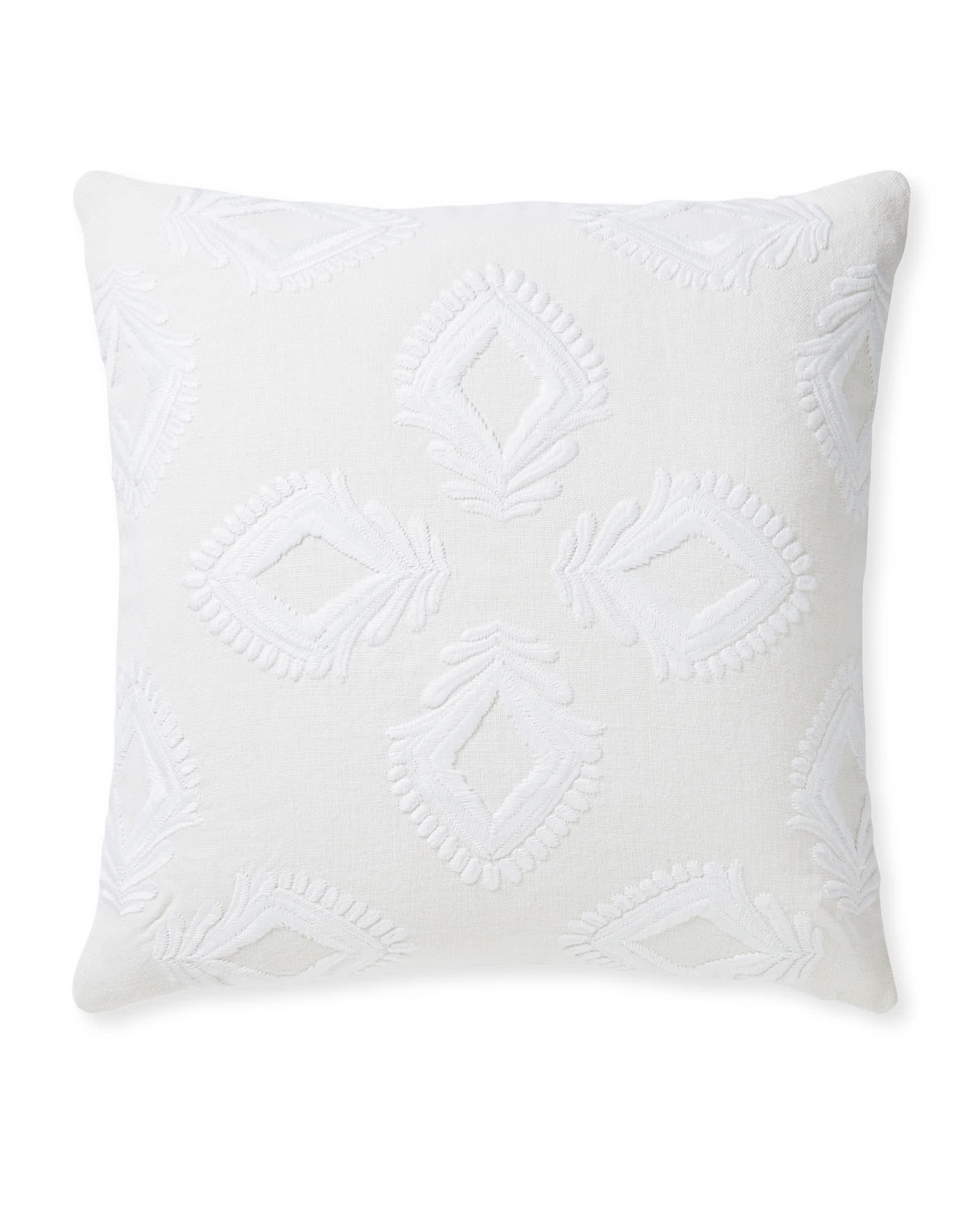 Leighton Pillow Cover, White