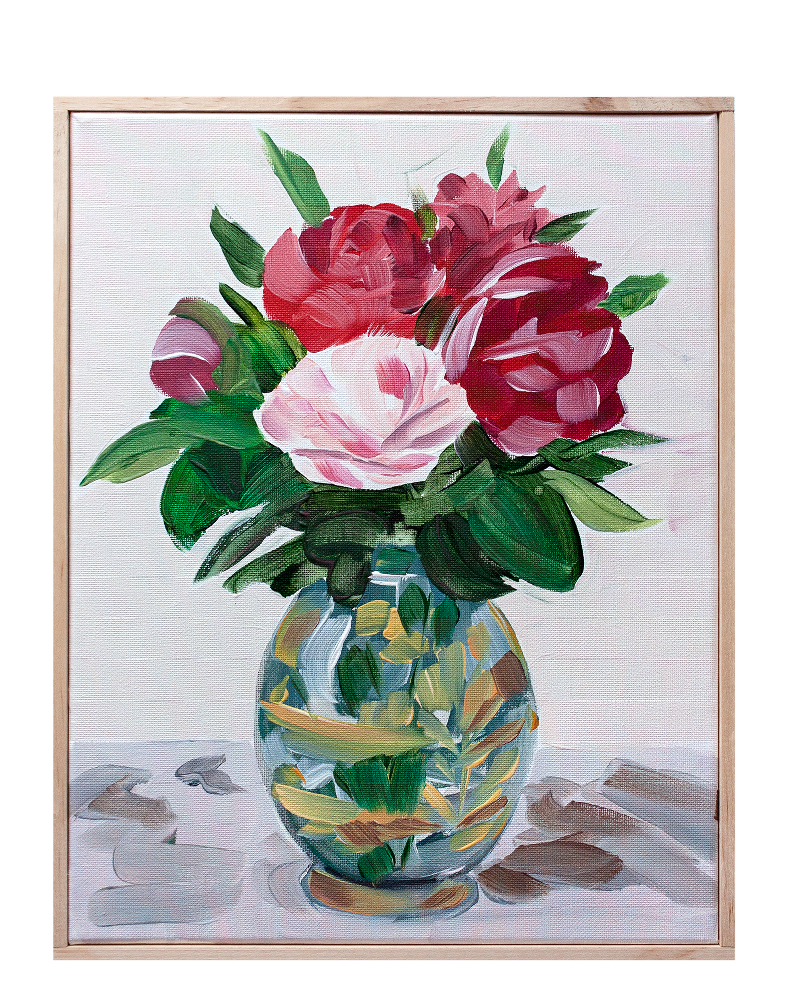"""""""Arrangement with Peonies and Vermilion"""" by Isabel Vexin,"""