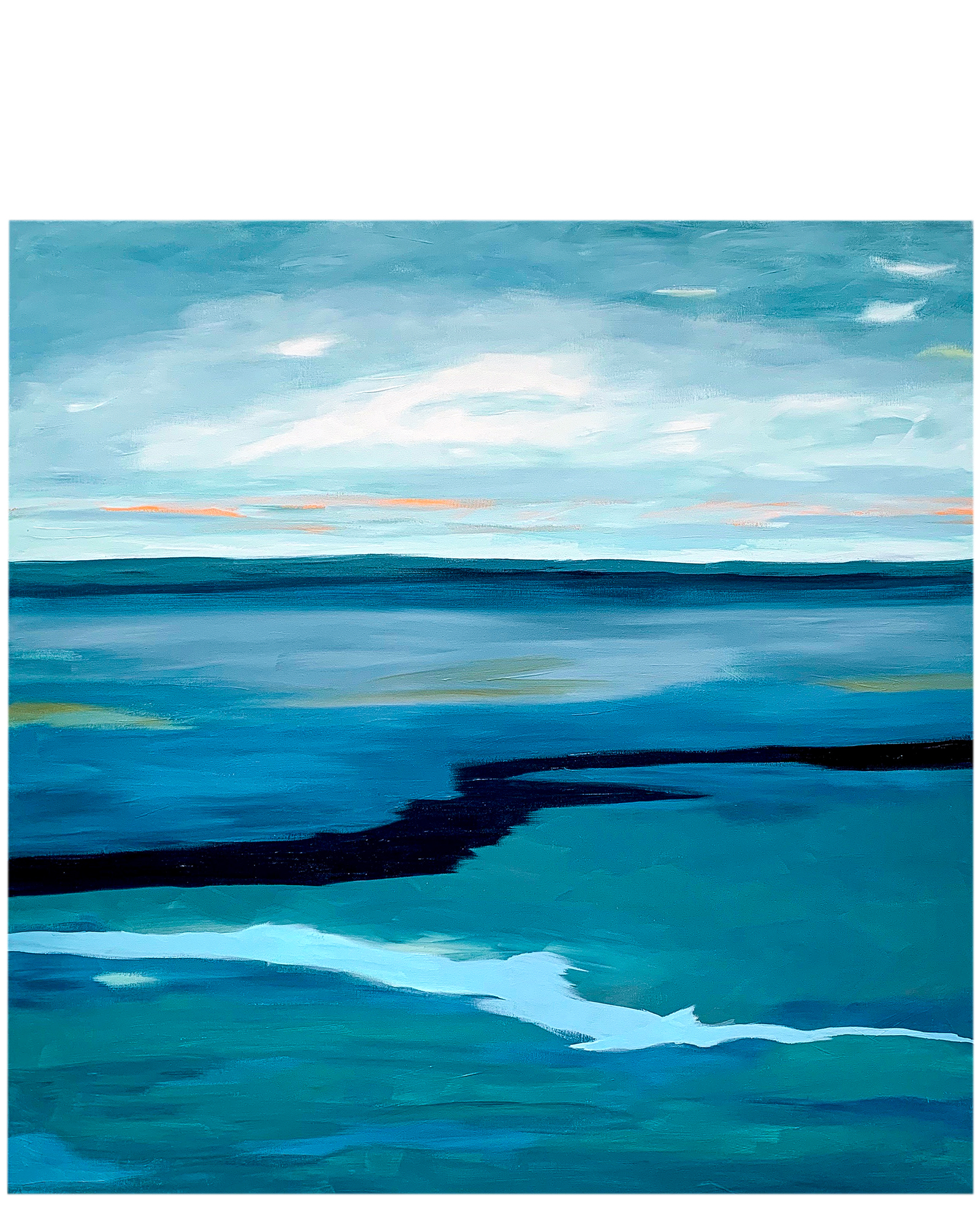 Winter At The Pacific by Janet Bludau,