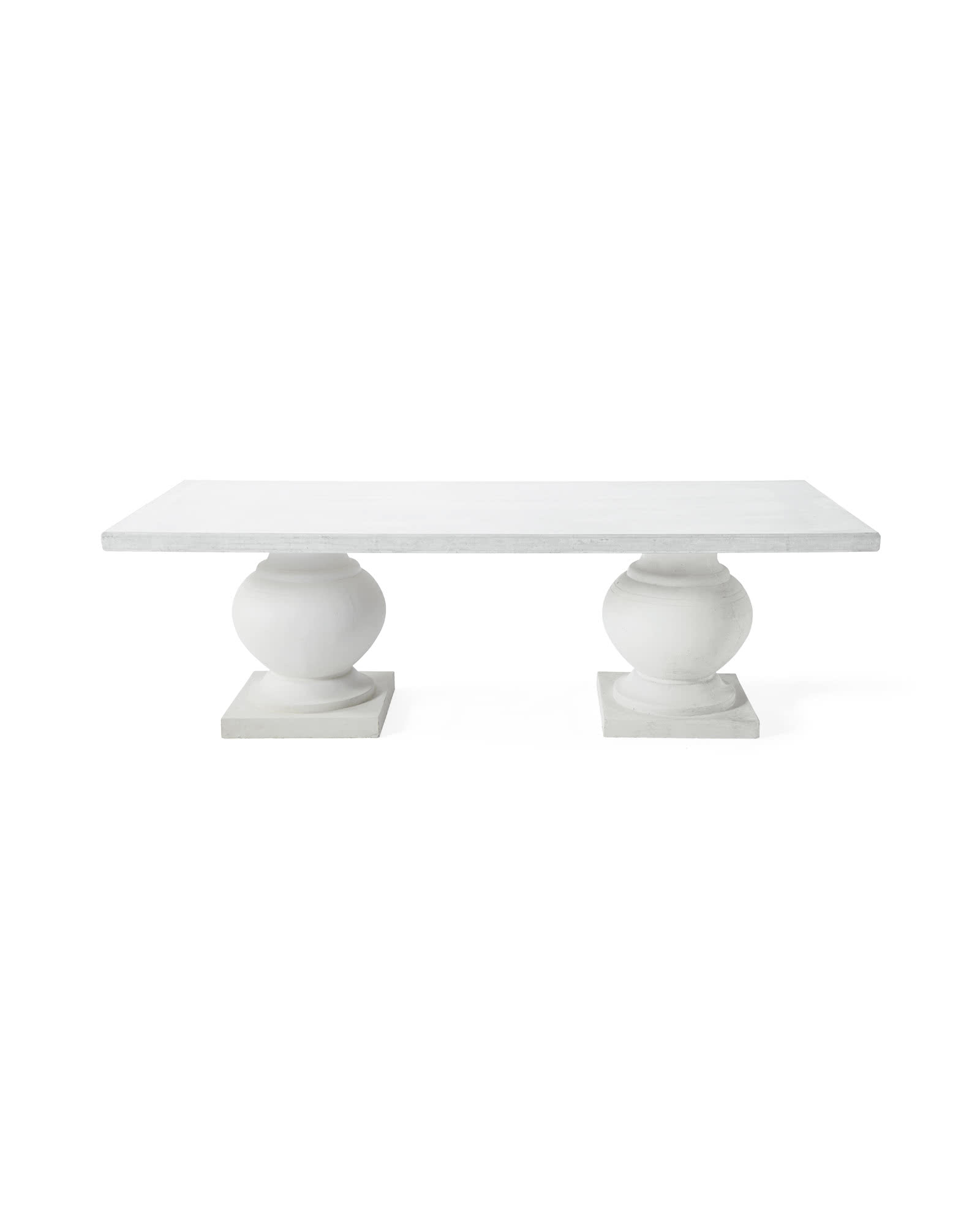 Terrace Dining Table, White/White