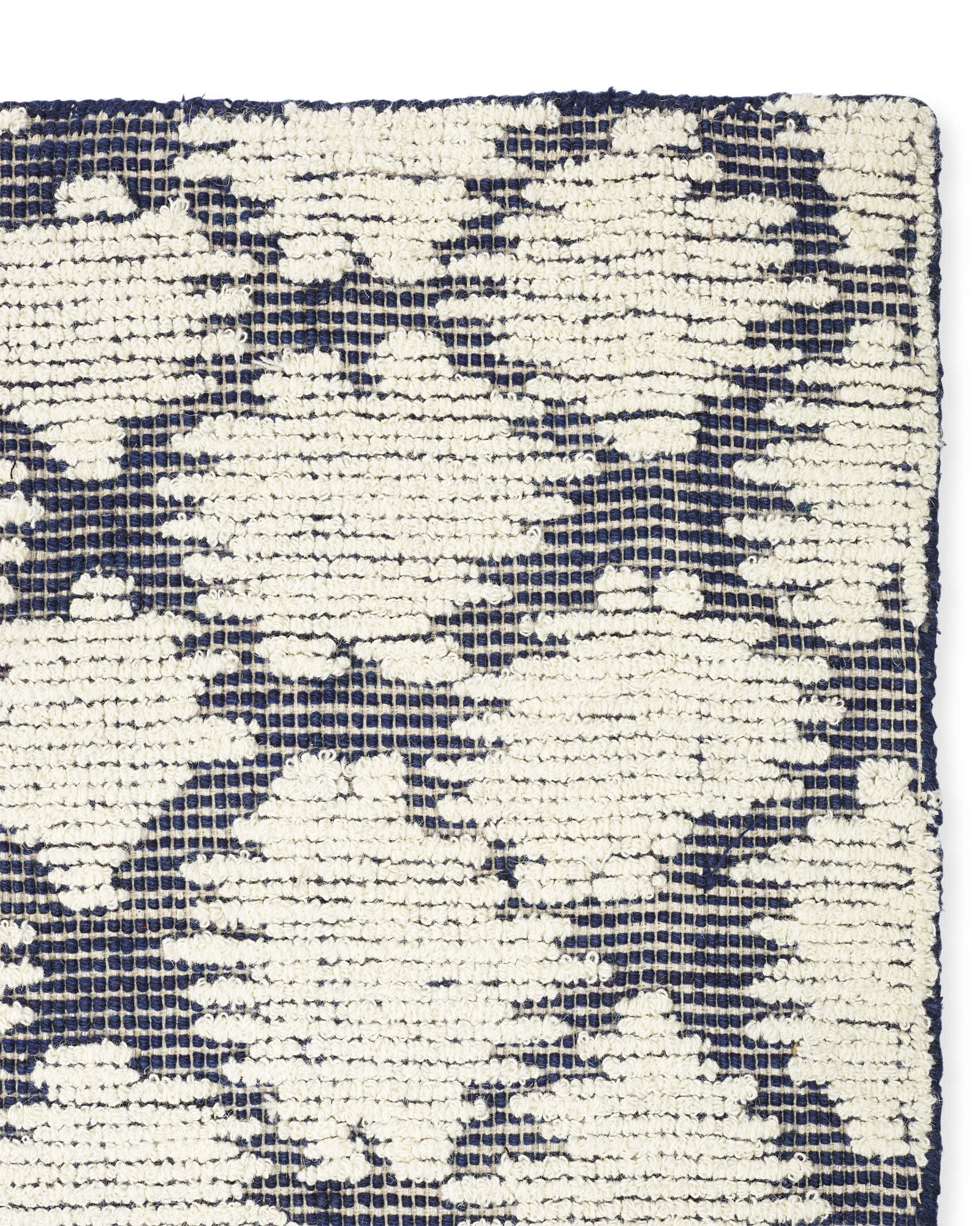 Brunswick Rug Swatch, Blue/Ivory