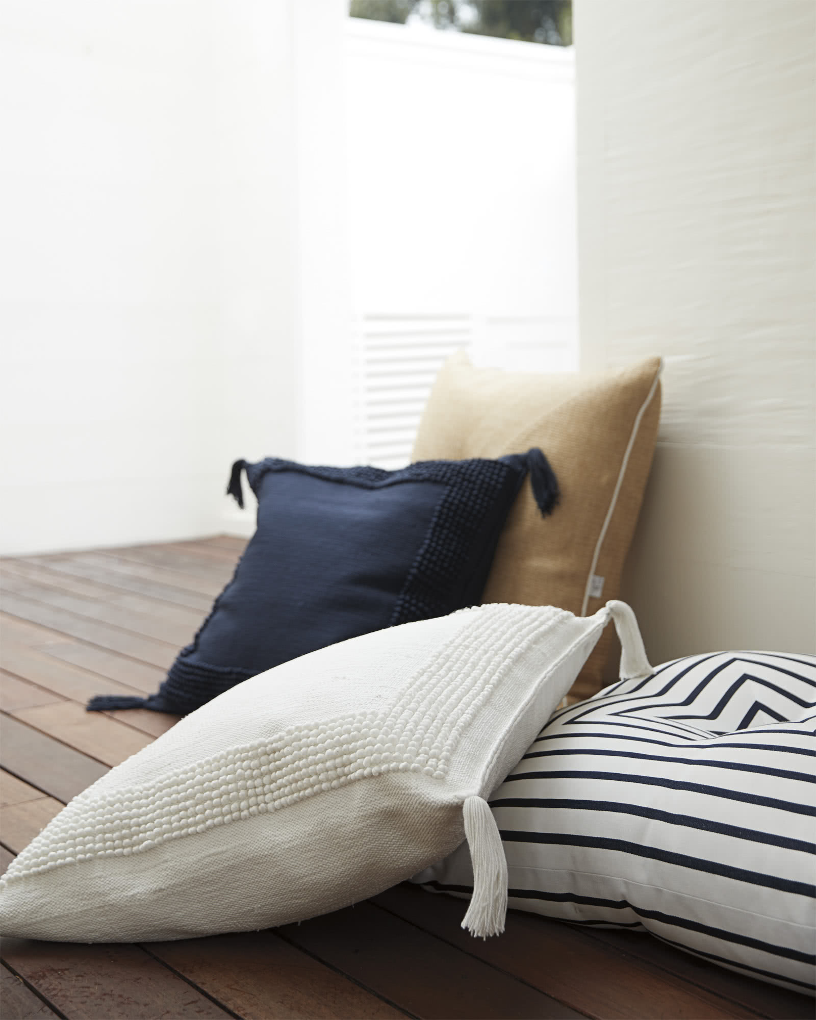 Montecito Floor Pillow, Navy
