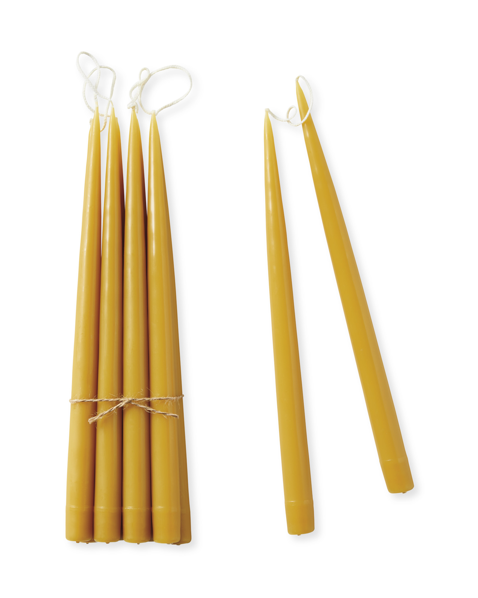 Tapered Candles (Set of 10), Honey