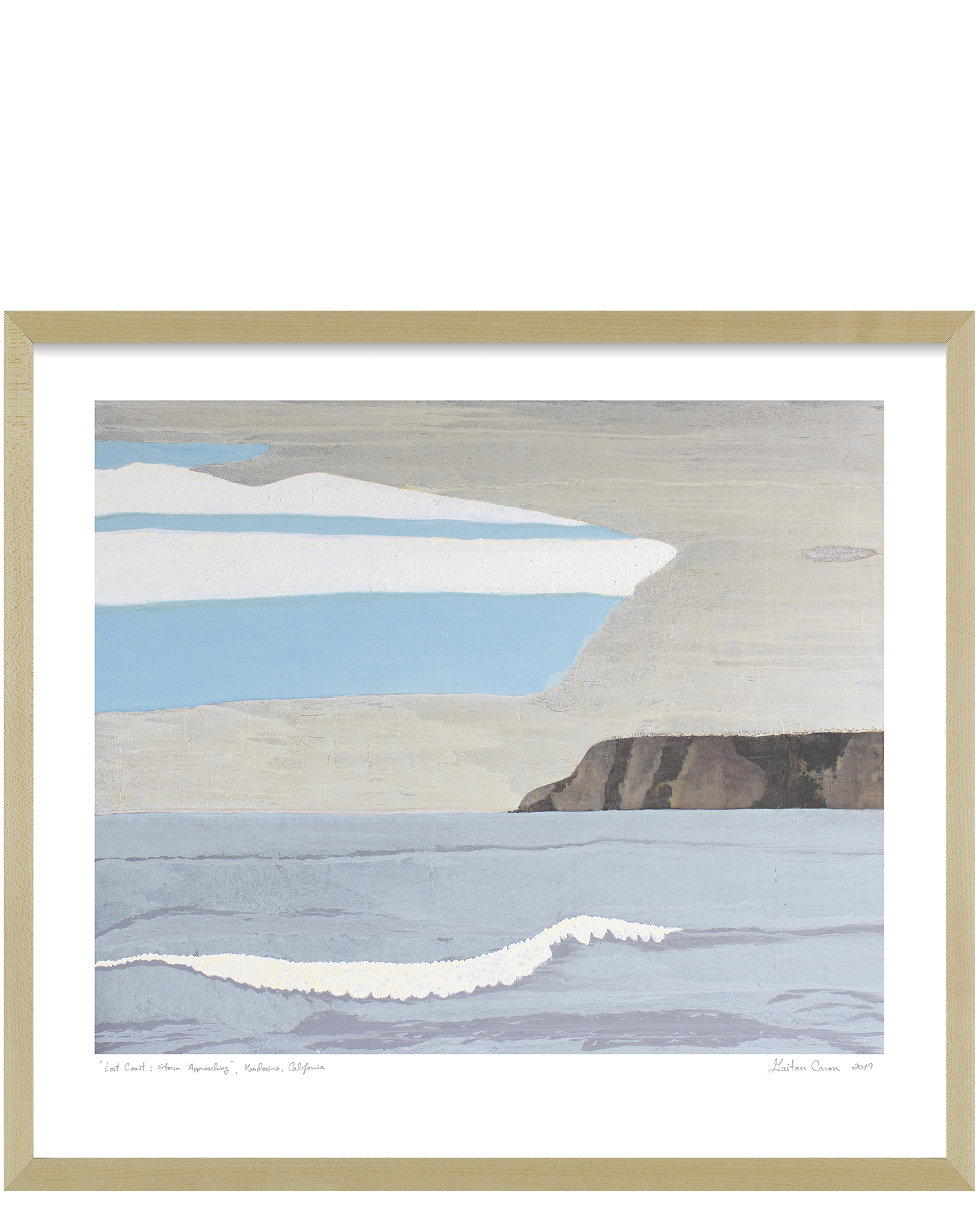 """Lost Coast: Storm Approaching"" by Gaetan Caron, Maple Frame"
