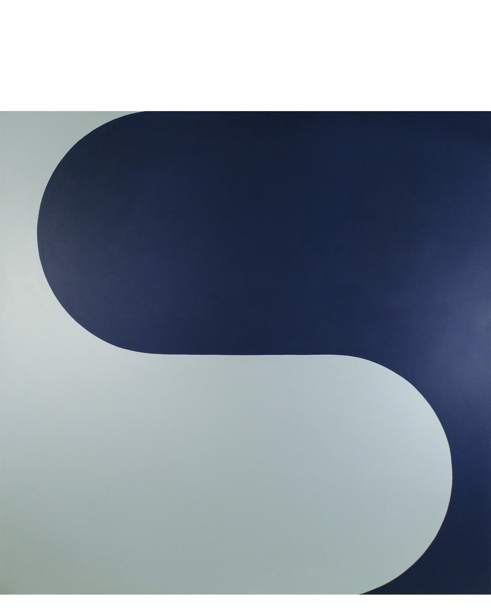 """""""Curvature in Navy and Pale Water"""" by Stephanie Henderson,"""
