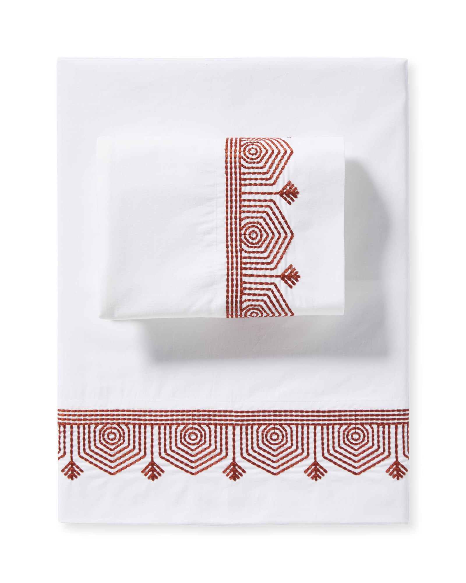 Olympia Sheet Set, Terracotta