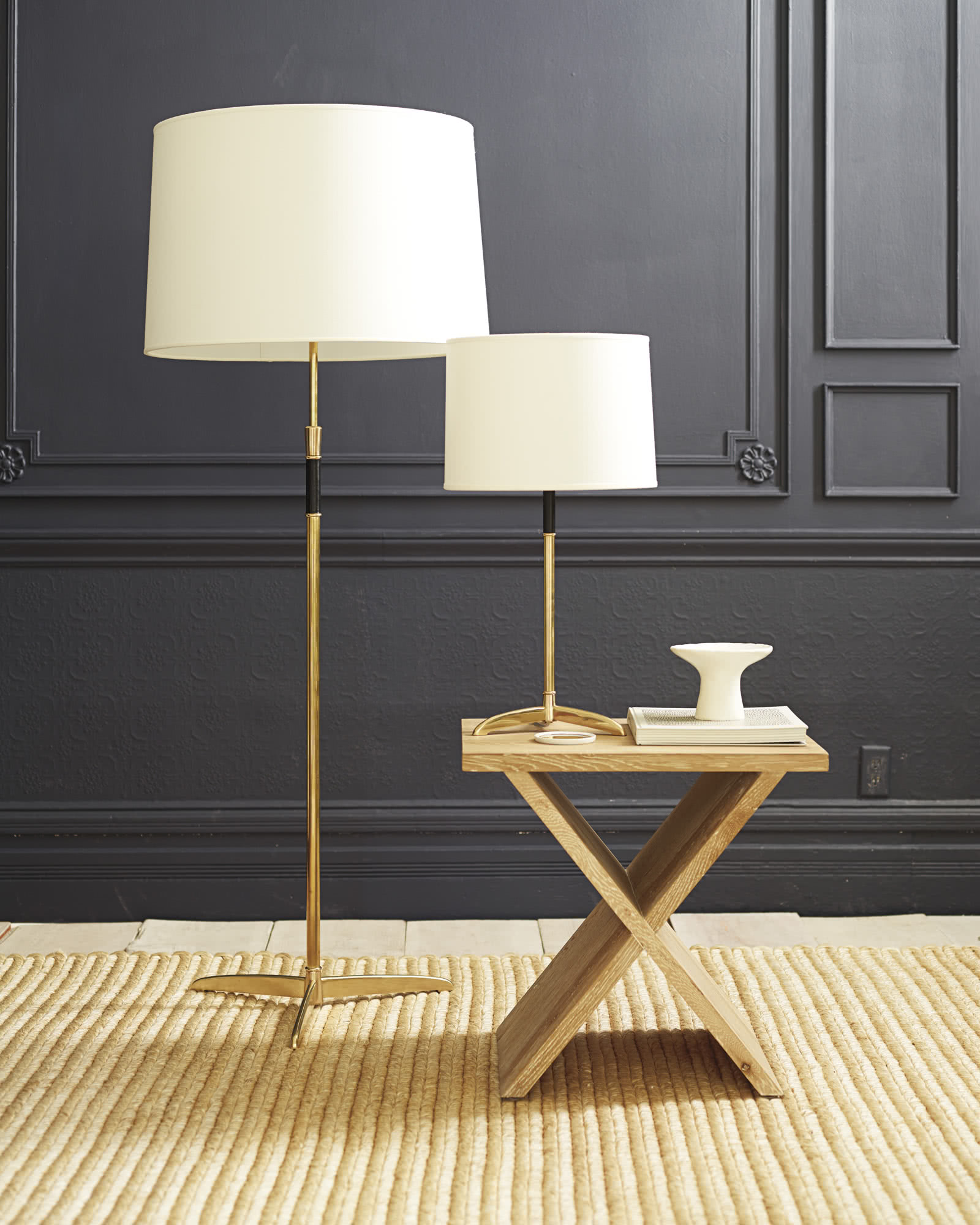 Cole Brass Floor Lamp,