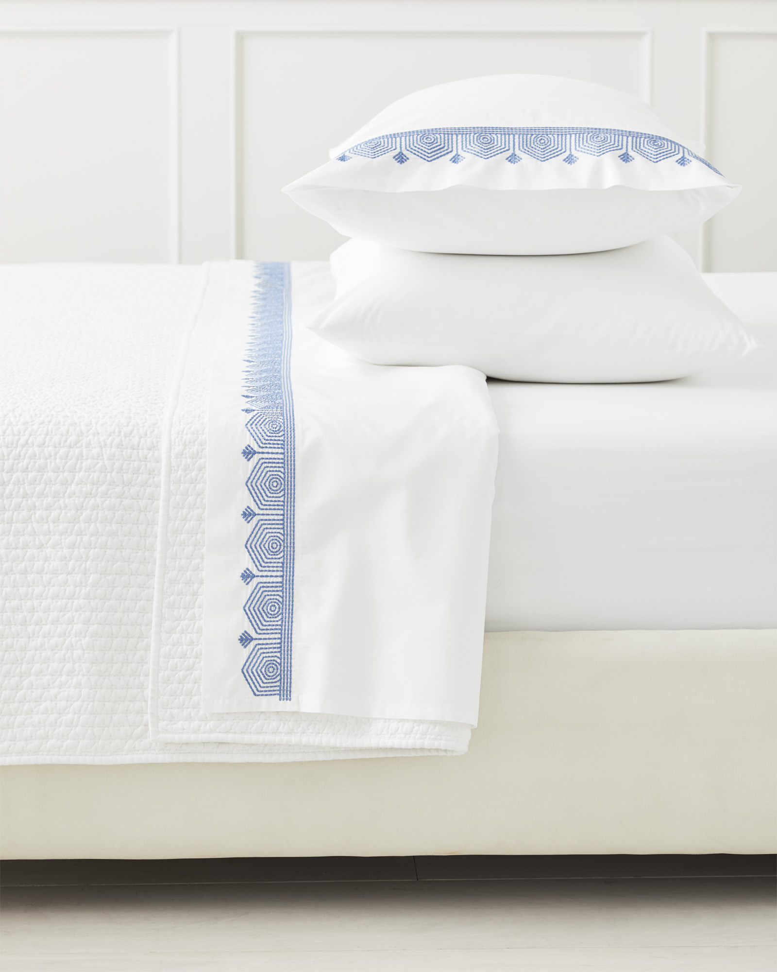 Olympia Pillowcases (Extra Set of 2), French Blue