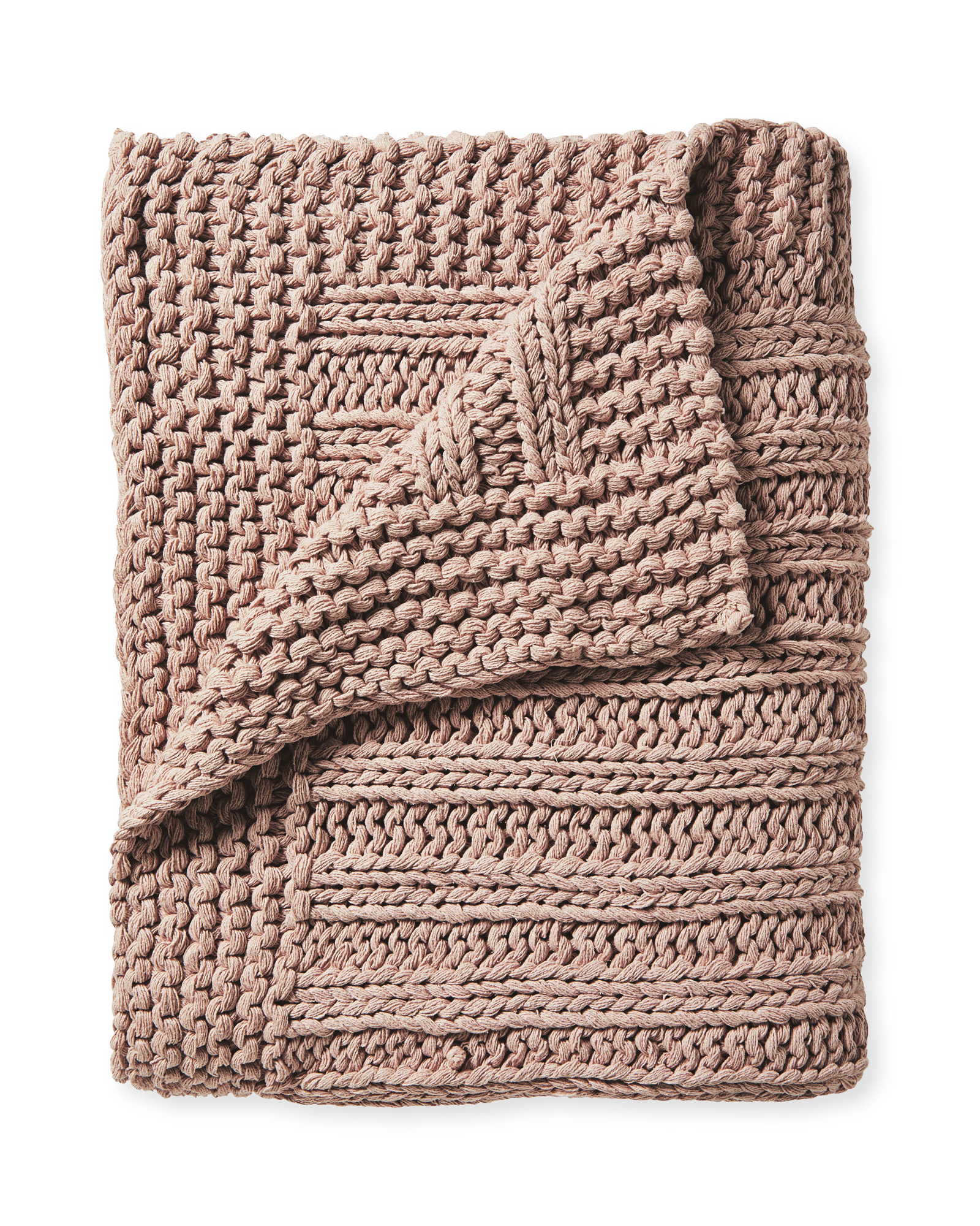 Sequoia Cotton Throw, Wild Rose