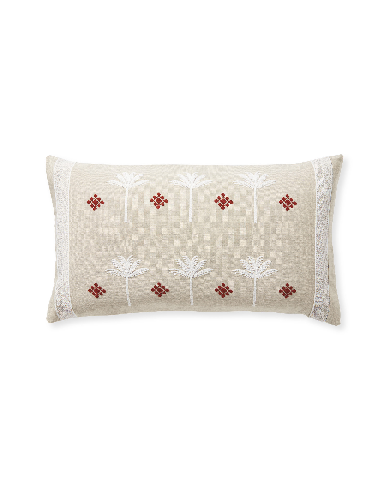 Veracruz Pillow Cover, Flax/Terracotta