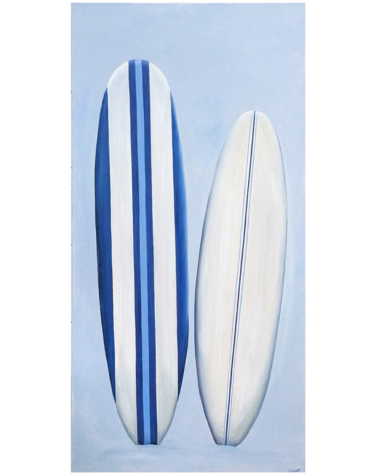 """Pair of Surfboards"" by Carol Saxe,"