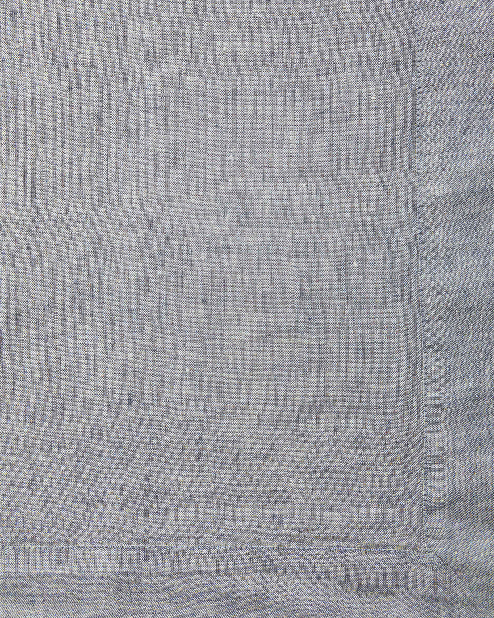 Cavallo Linen Bedding Swatch, Navy Chambray