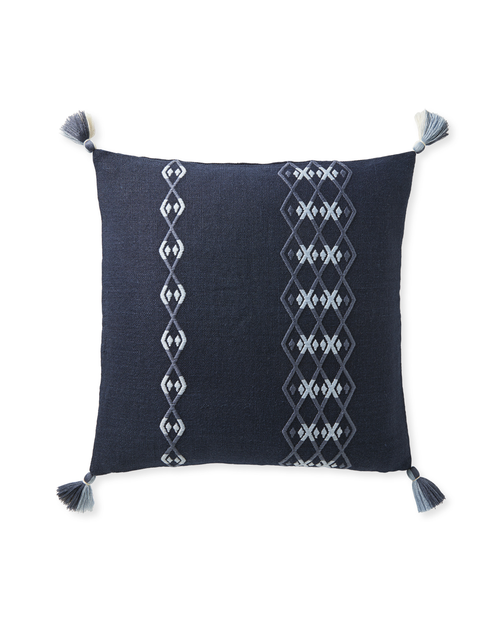 Falmouth Pillow Cover, Navy/Vintage Indigo