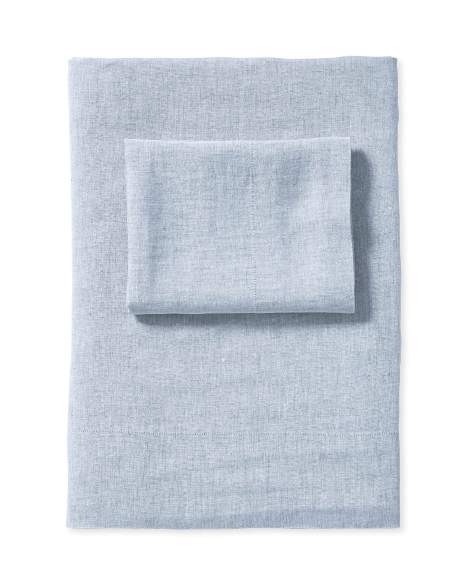 Cavallo Linen Sheet Set, Blue Chambray