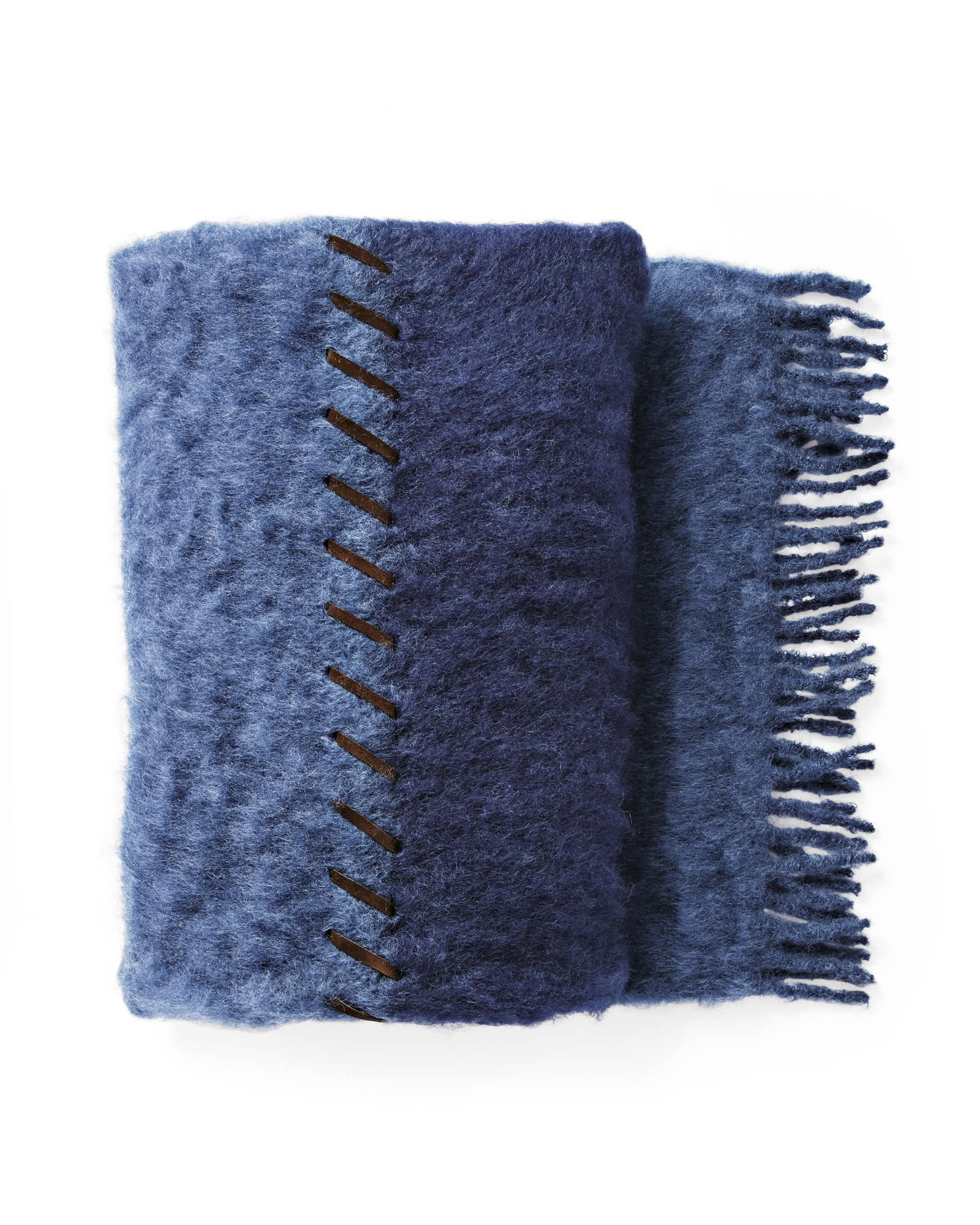 Whipstitch Mohair Throw,