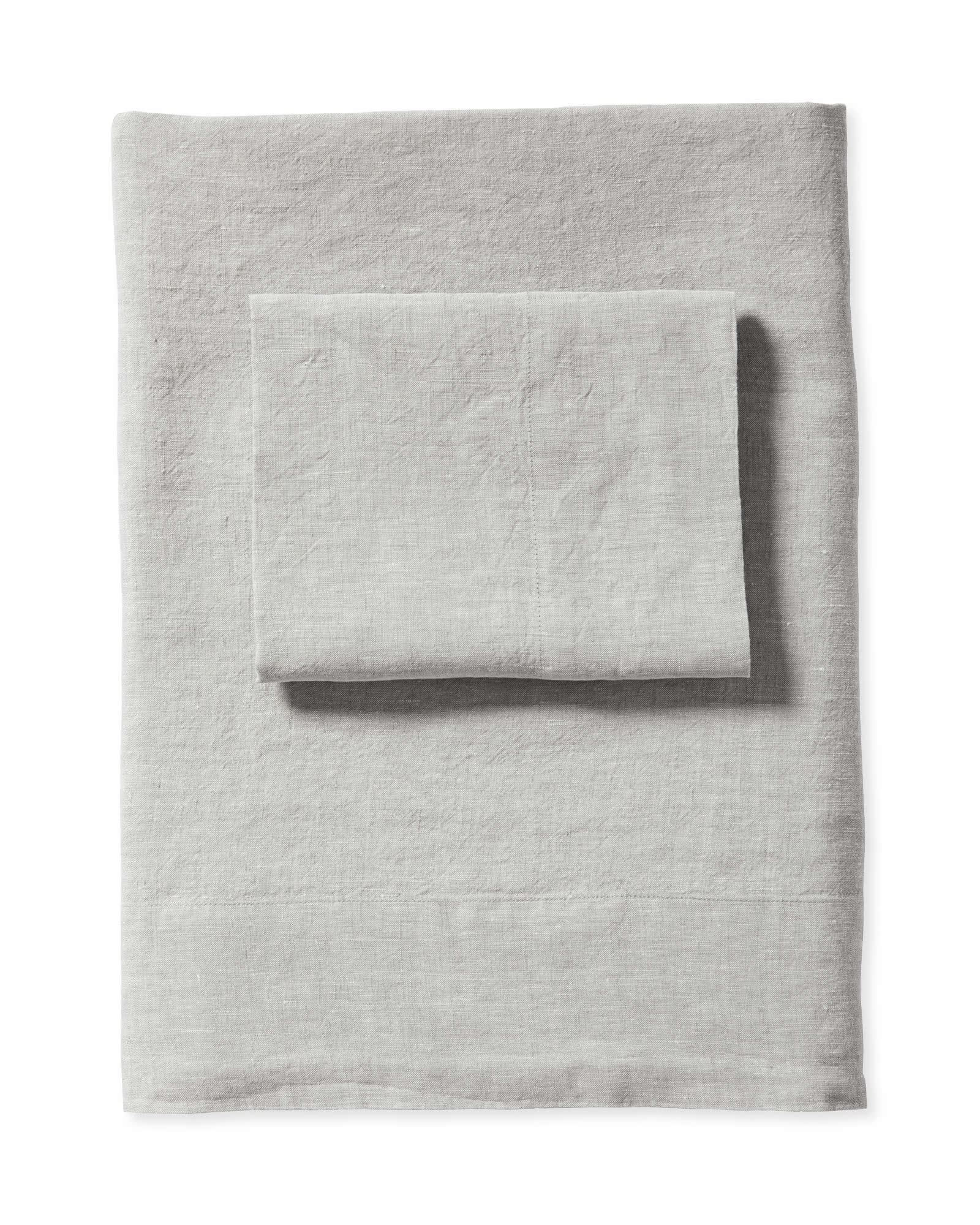 Cavallo Linen Sheet Set, Smoke Chambray