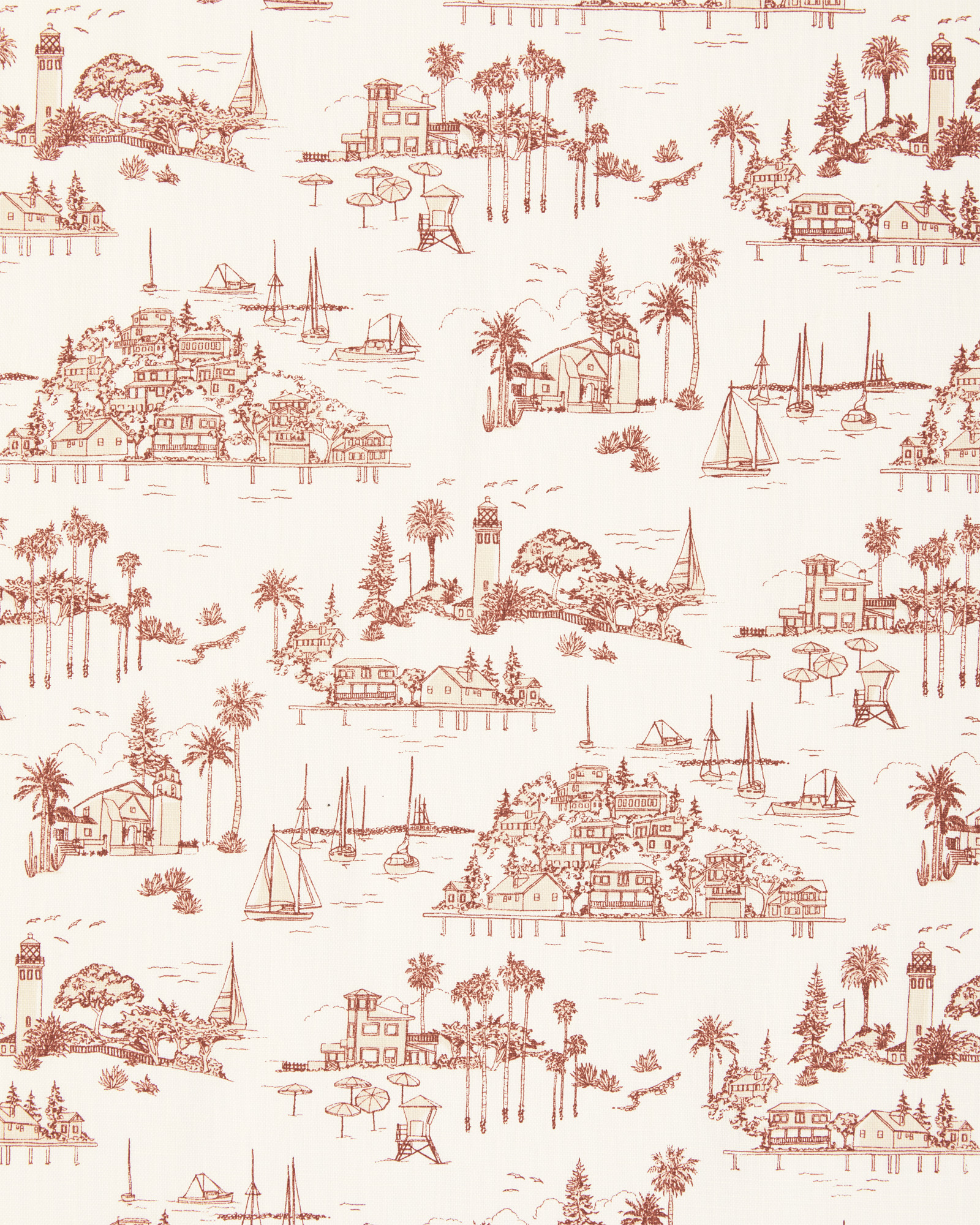 Fabric by the Yard - Seahaven Linen, Terracotta