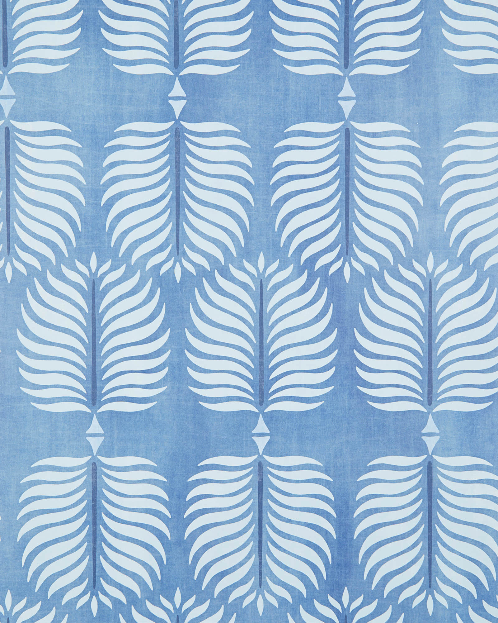 Granada Wallpaper Swatch, Washed Indigo/Sky
