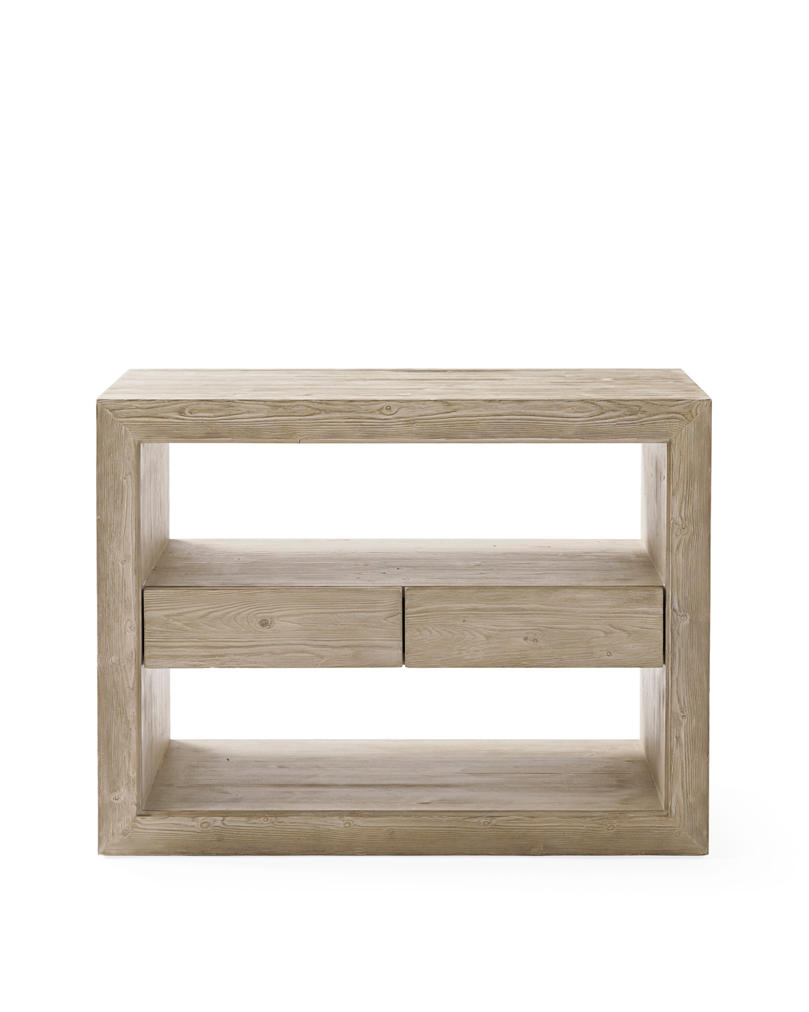 Atelier Wide Side Table, Sunbleached Pine