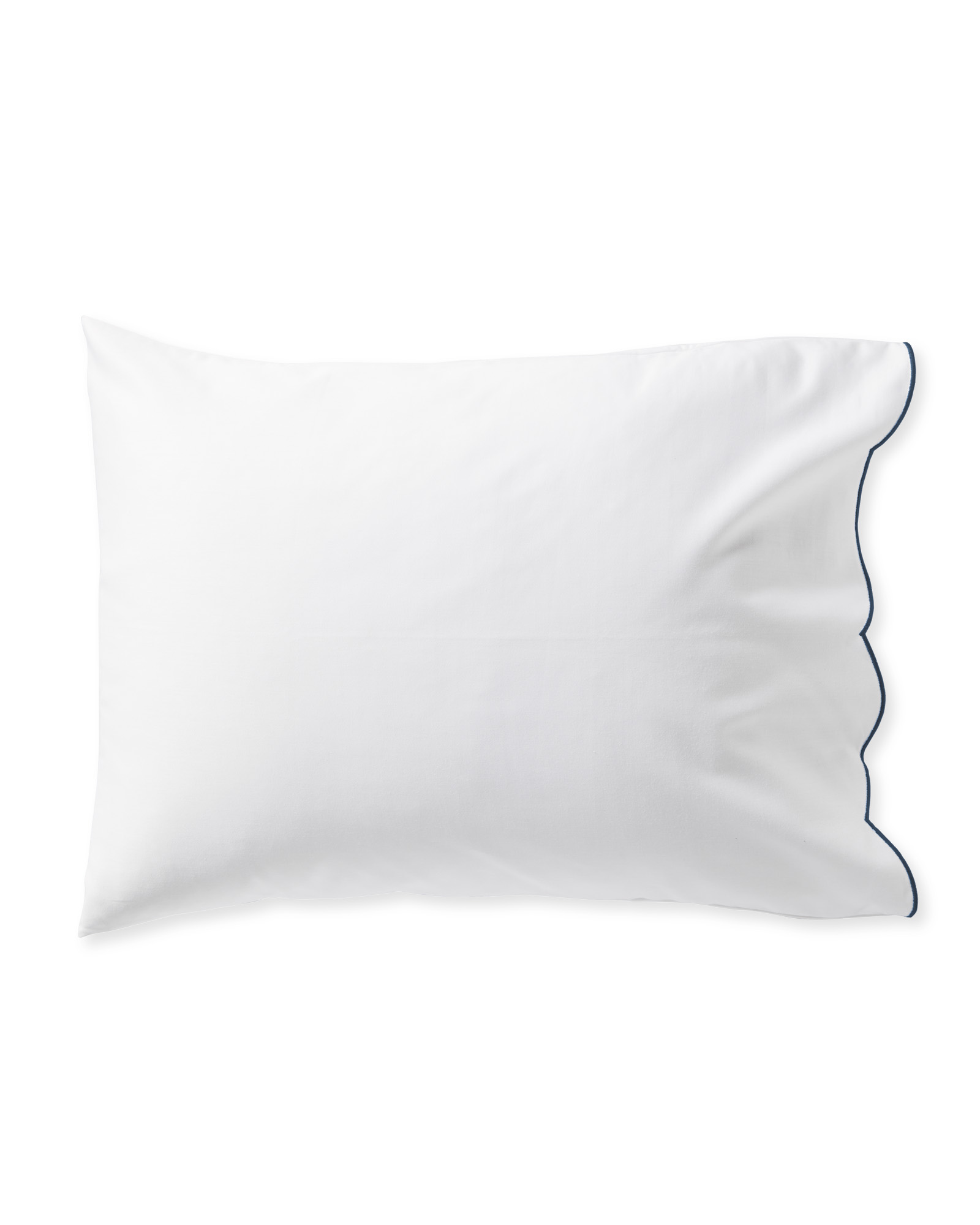 Scallop Pillowcases (Set of 2), Navy