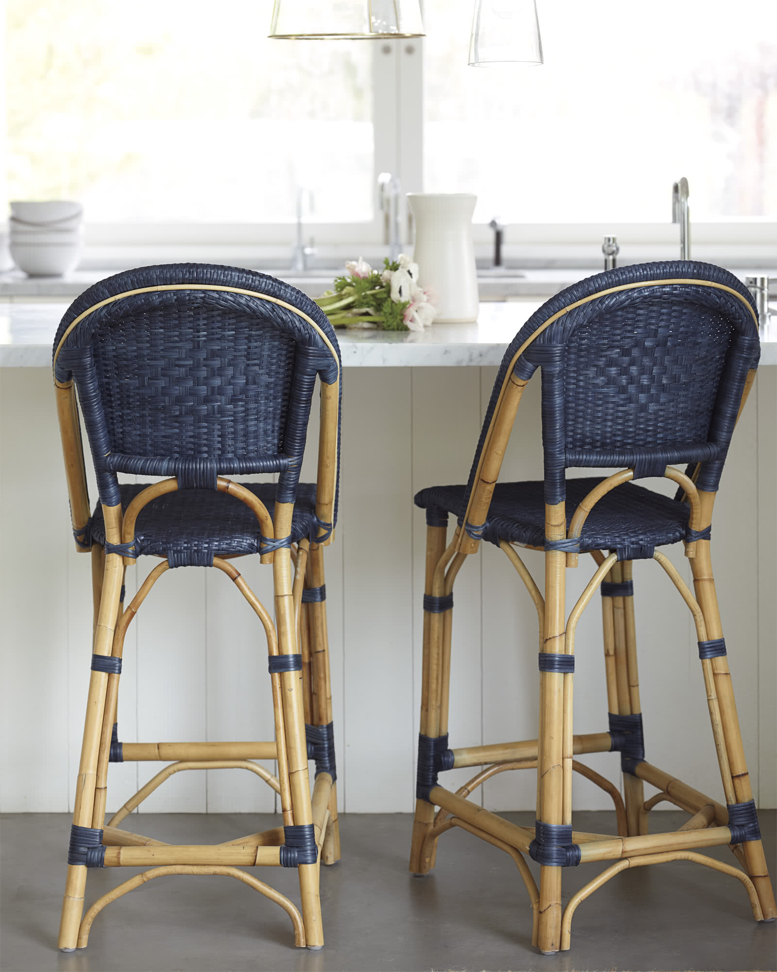 Sunwashed Riviera Counter Stool, Pacific