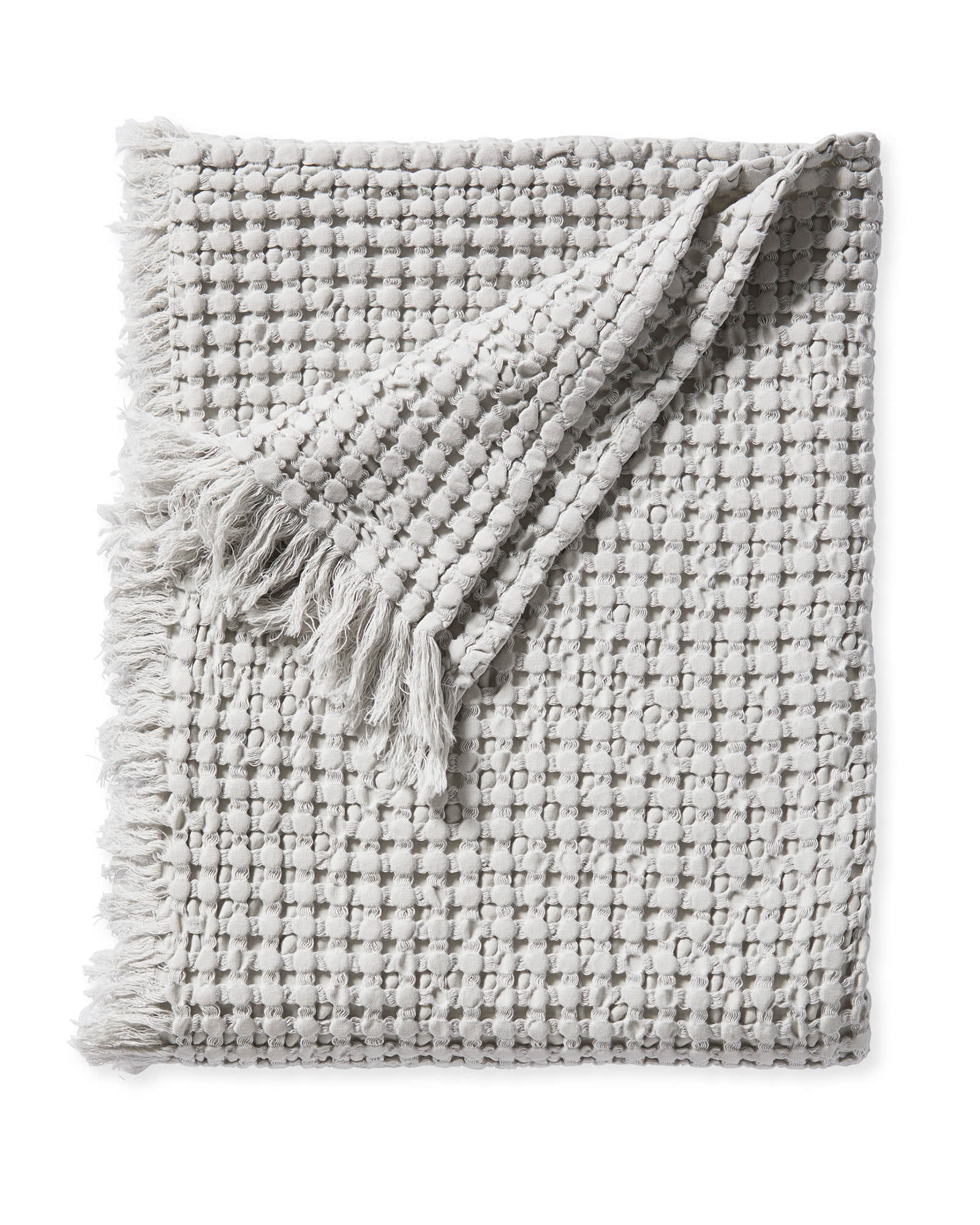 Beachcomber Cotton Throw, Fog