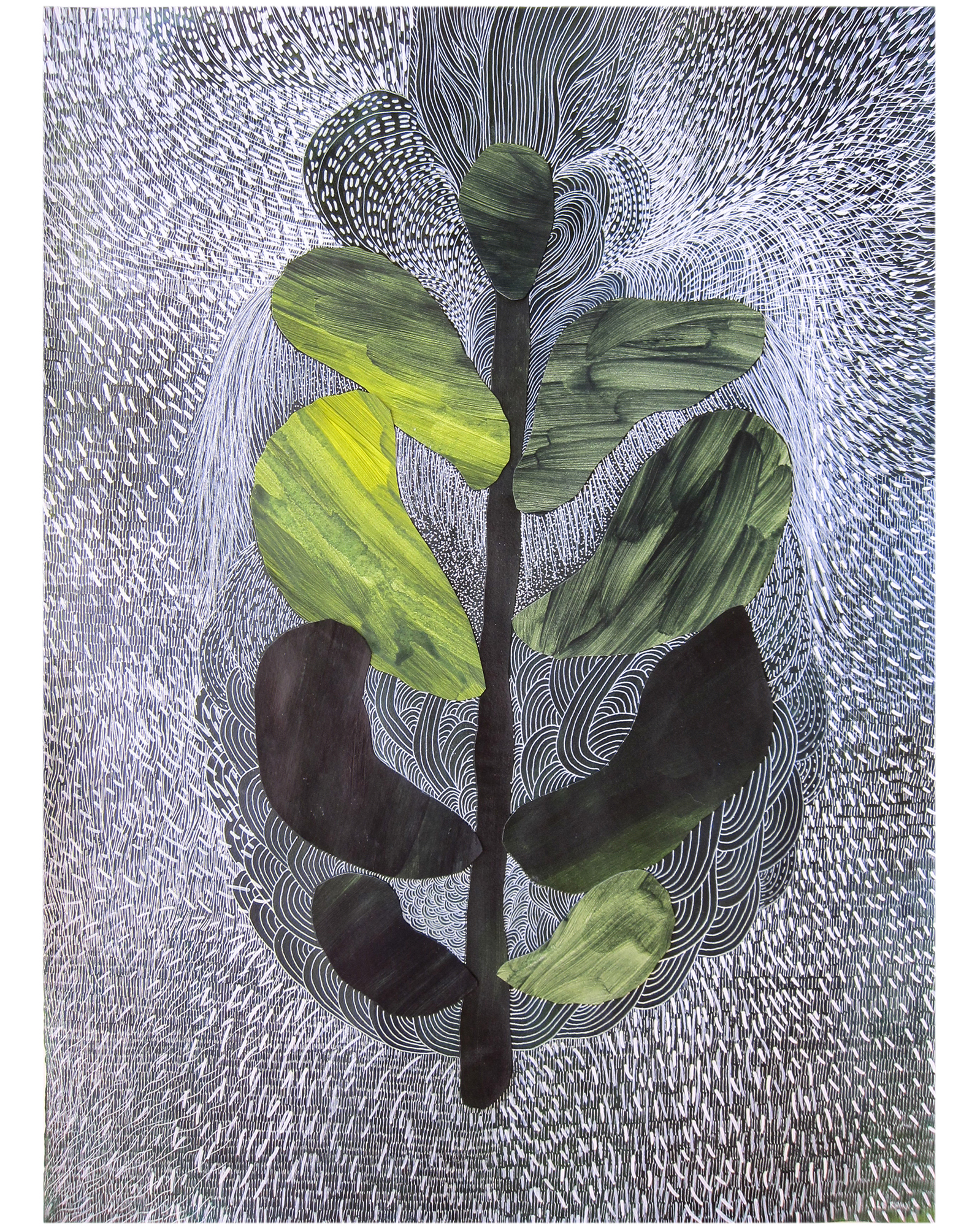 """""""Night plants I"""" by Ruth Le Roux,"""
