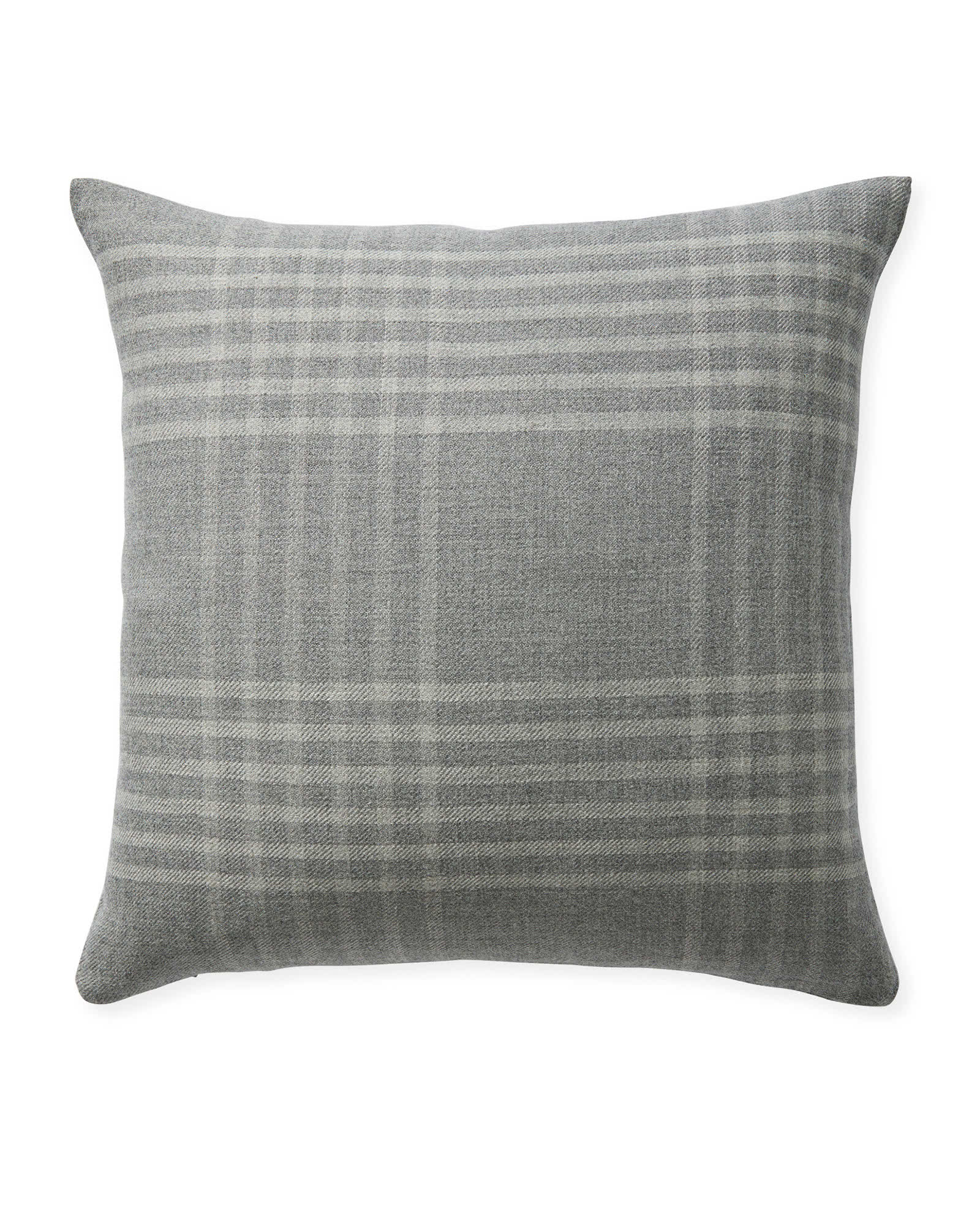 Blakely Plaid Pillow Cover, Smoke