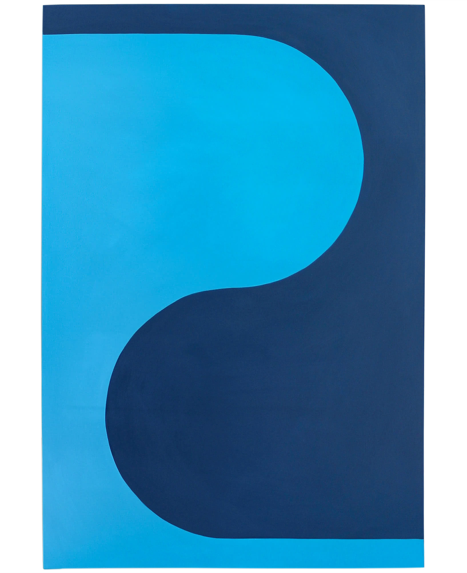 """""""Curvature in Calypso and Navy"""" by Stephanie Henderson,"""