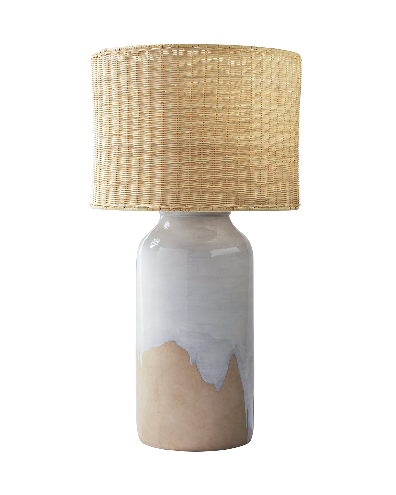 Abbey Table Lamp, Wicker