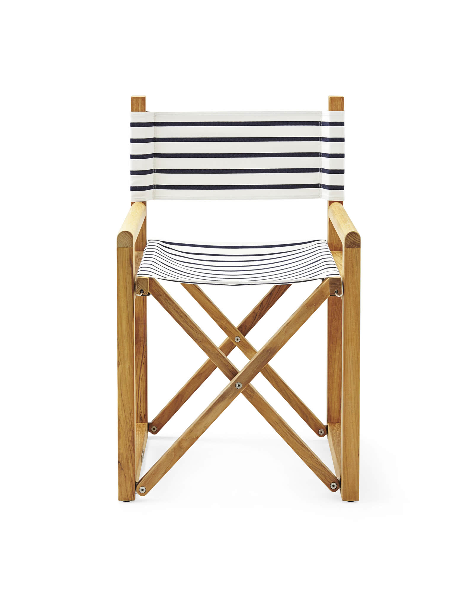 Directors Chair, Classic Stripe Navy/White