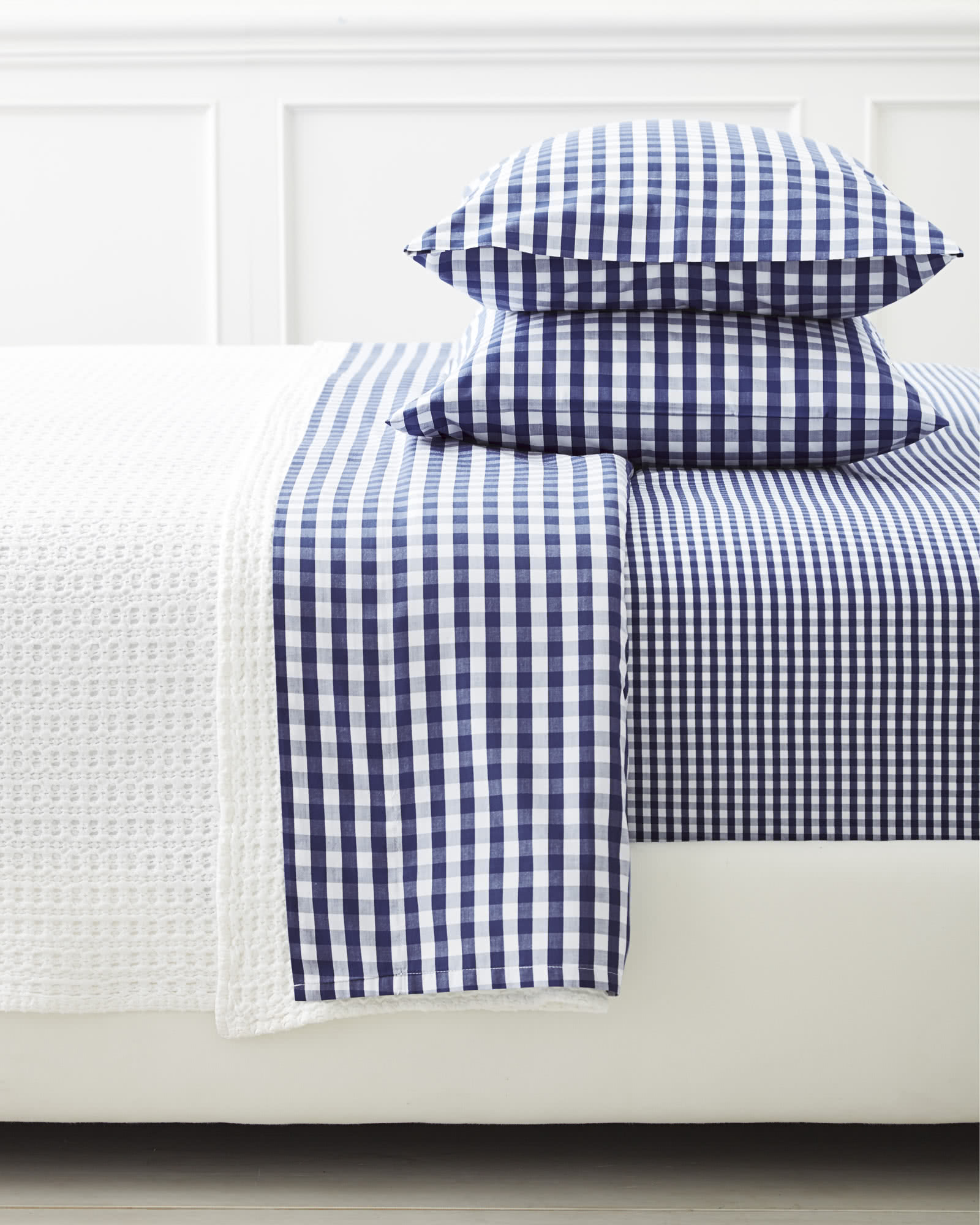 Gingham Pillowcases (Extra Set of 2), Midnight