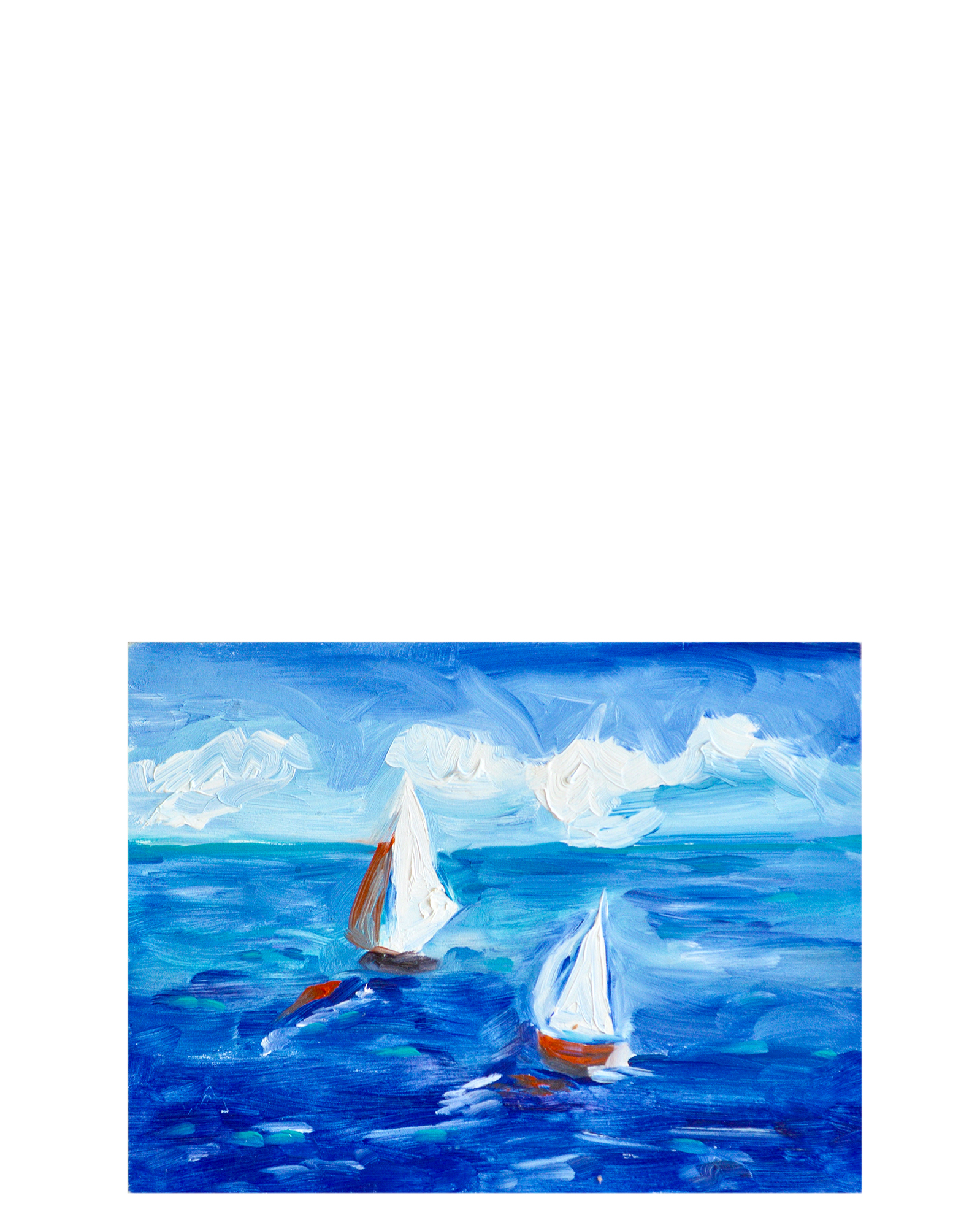 """Sailing on the Ocean Blue"" by Susie Elder,"