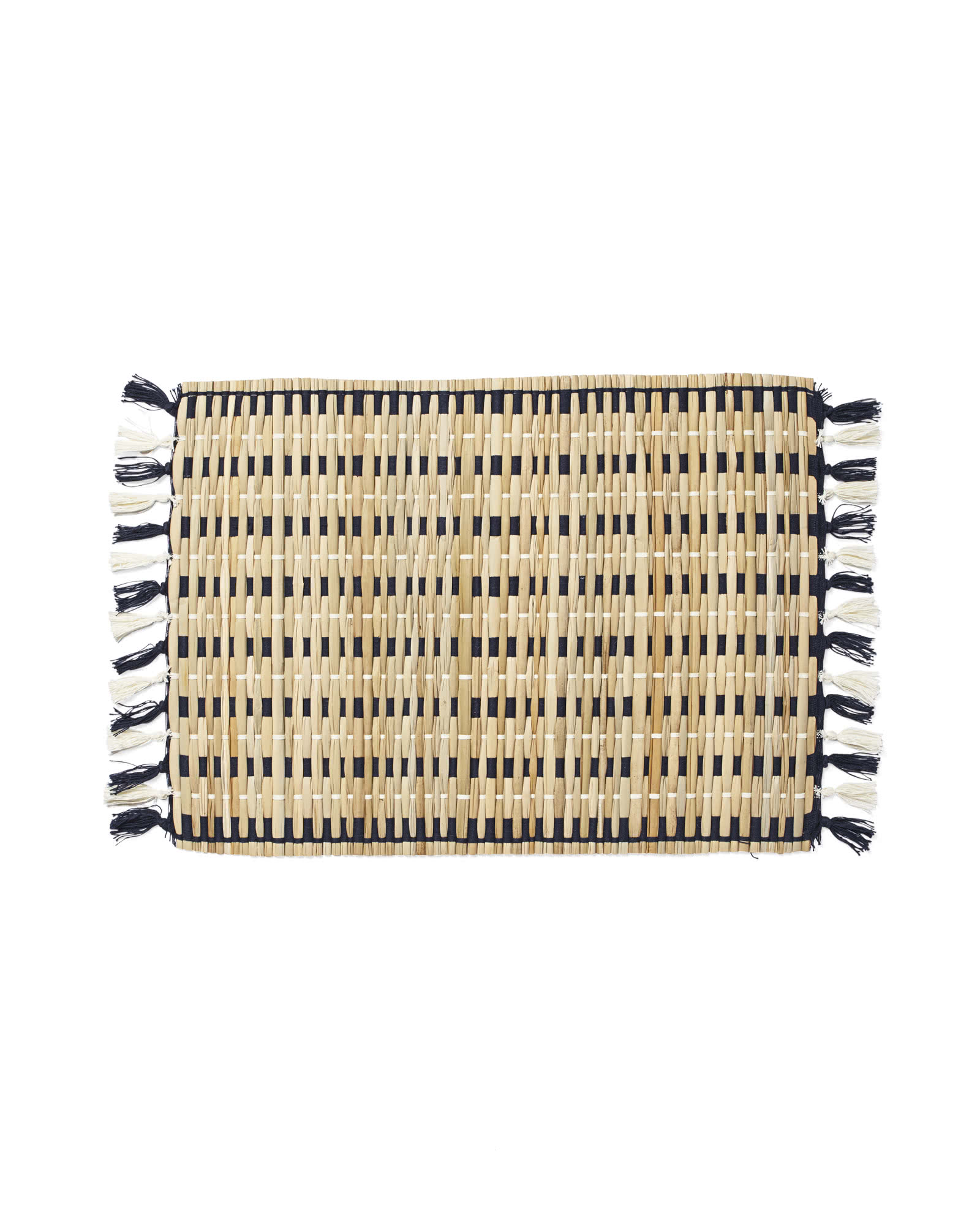 Cabo Woven Placemats (Set of 4), Navy