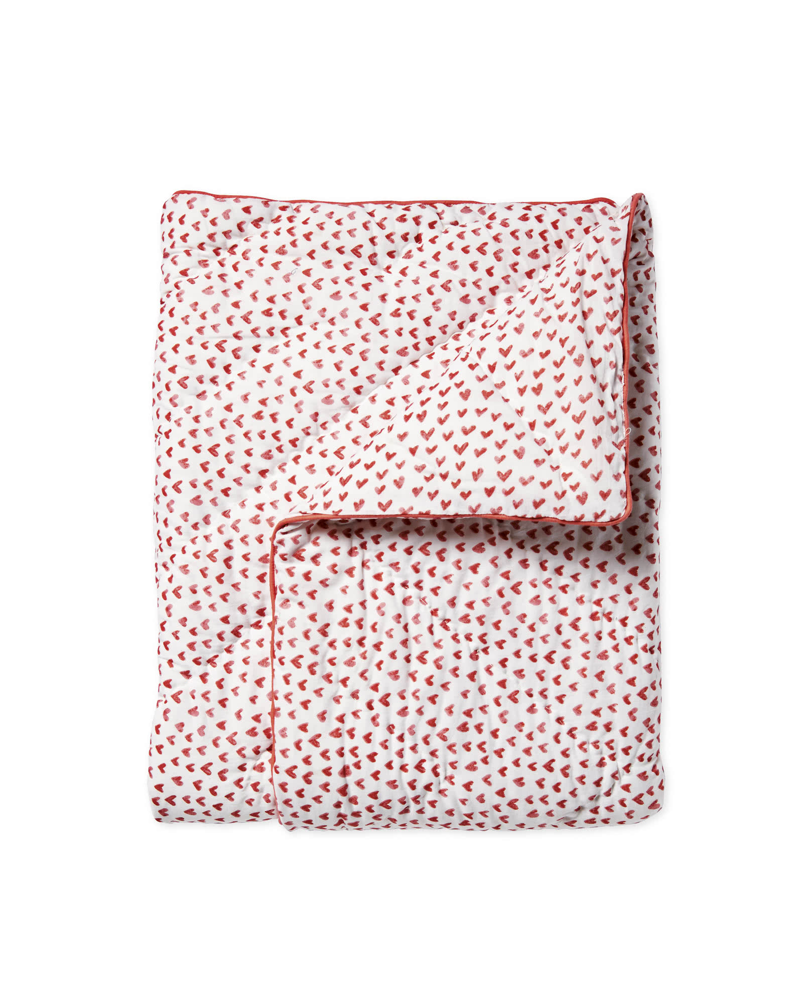 Mini Hearts Quilt, Nantucket Red