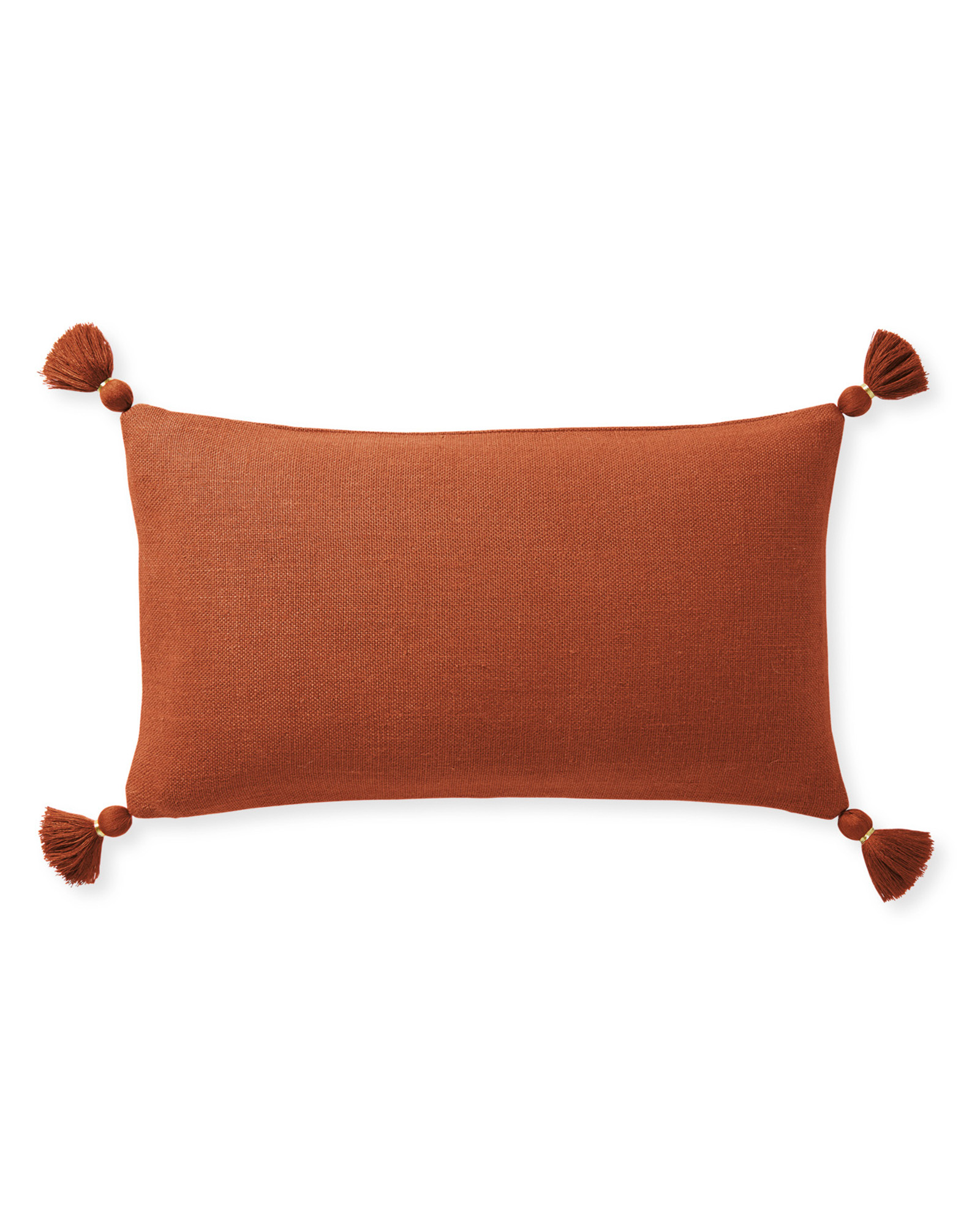 Eva Tassel Pillow Cover, Terracotta