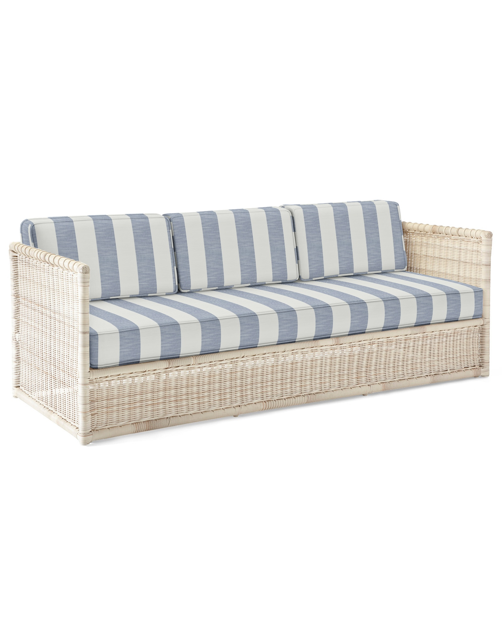 Cushion Cover for Pacifica Sofa, Beach Stripe Navy