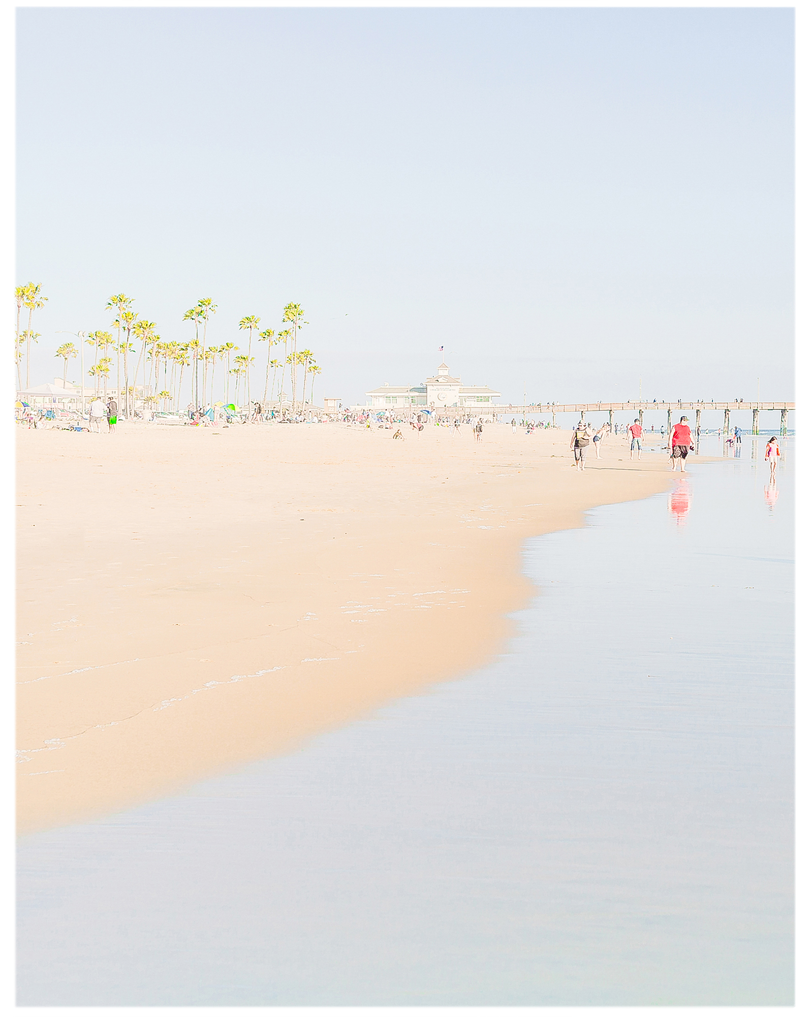 """Family Day at Newport Beach""  by Caroline Pacula,"