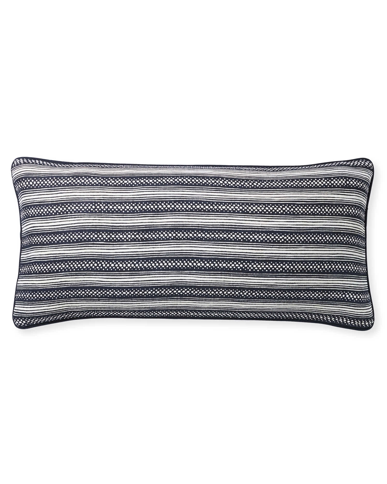 Stowe Pillow Cover, White/Navy