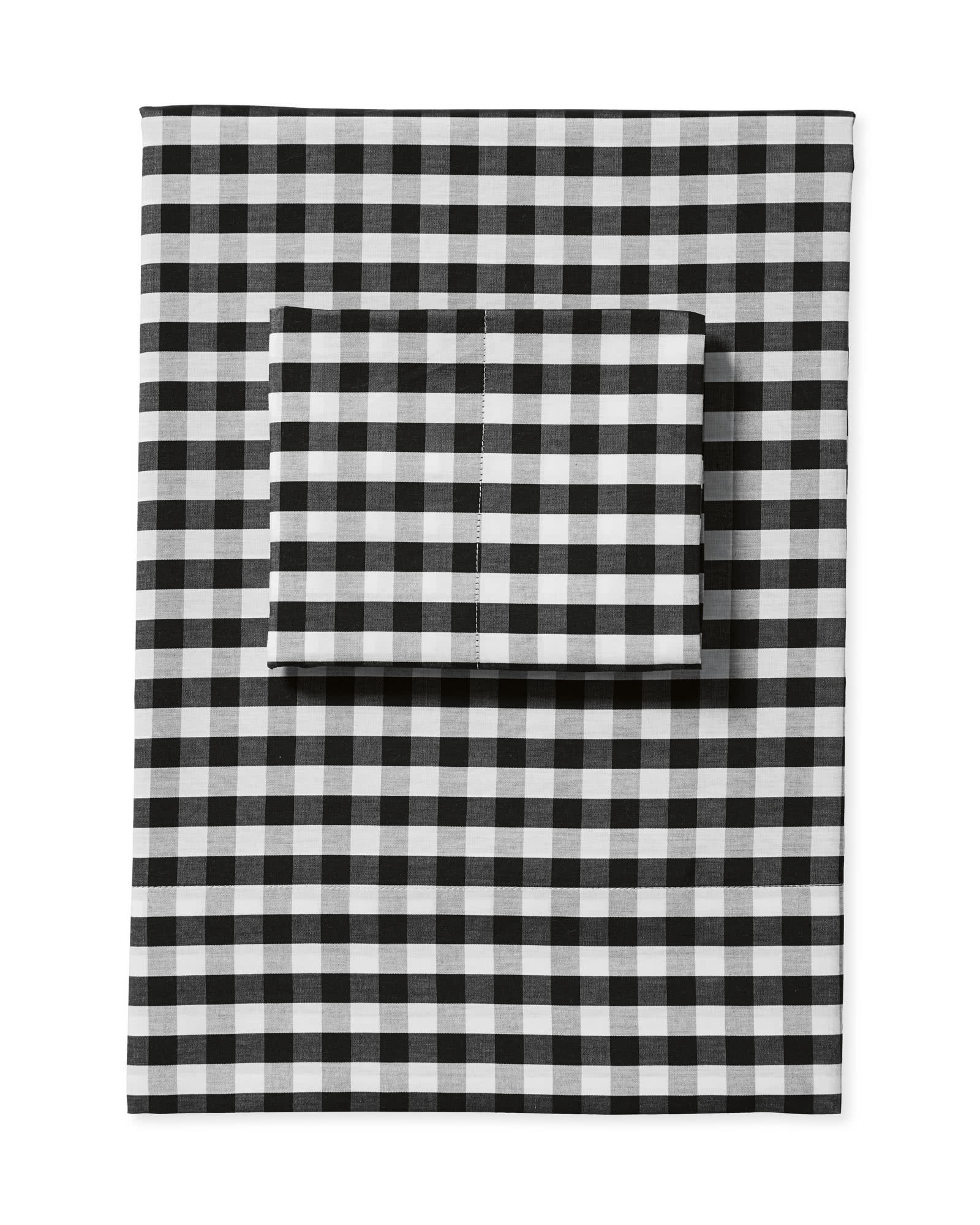 Gingham Sheet Set, Black