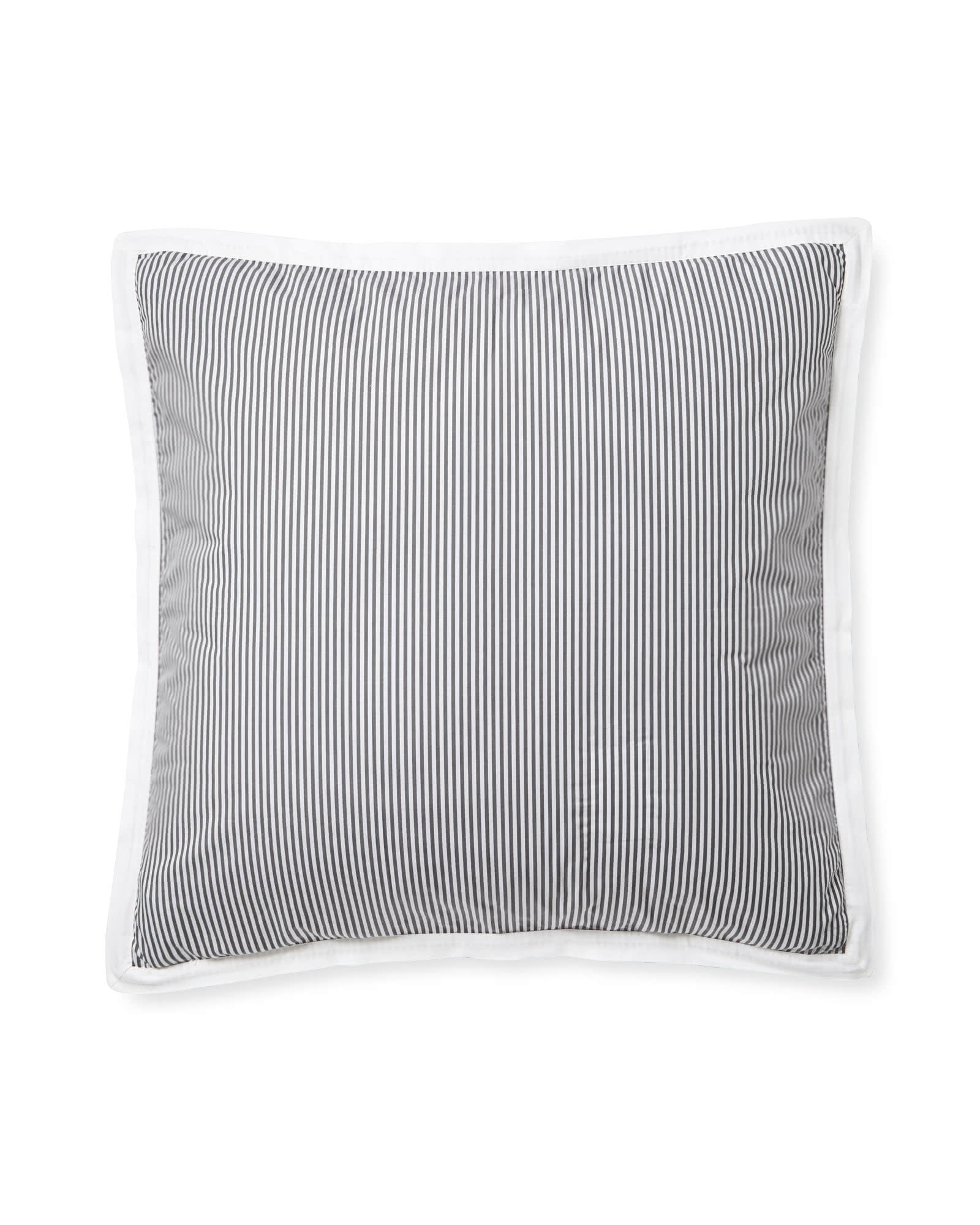 Oxford Stripe Shams, Pewter