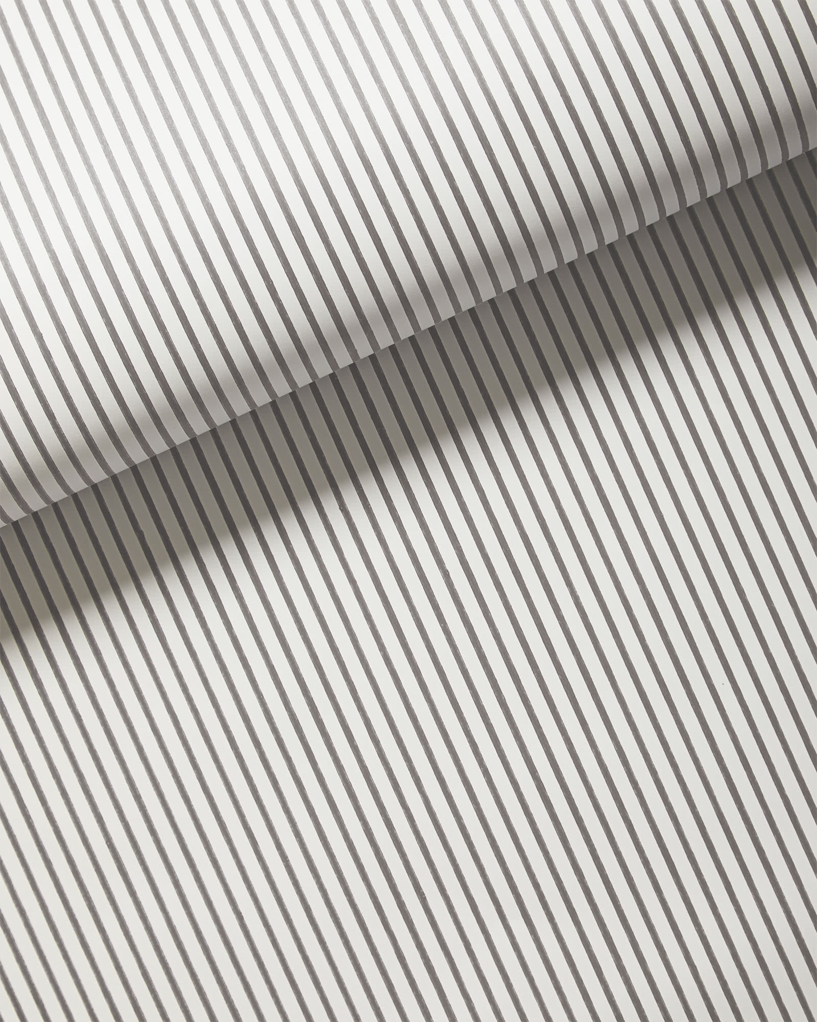 Oxford Stripe Wallpaper, Fog