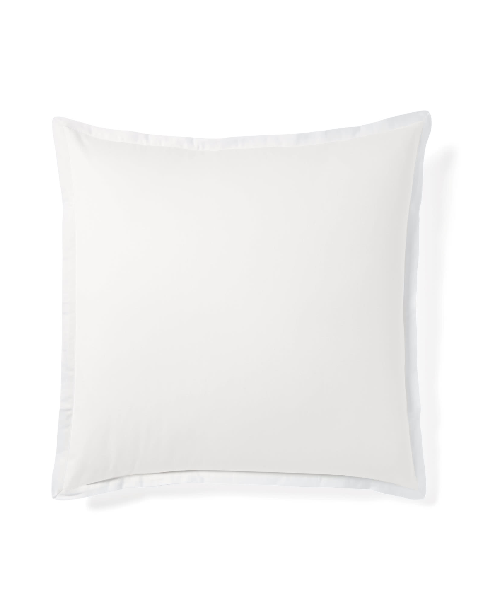 Border Frame Shams, White
