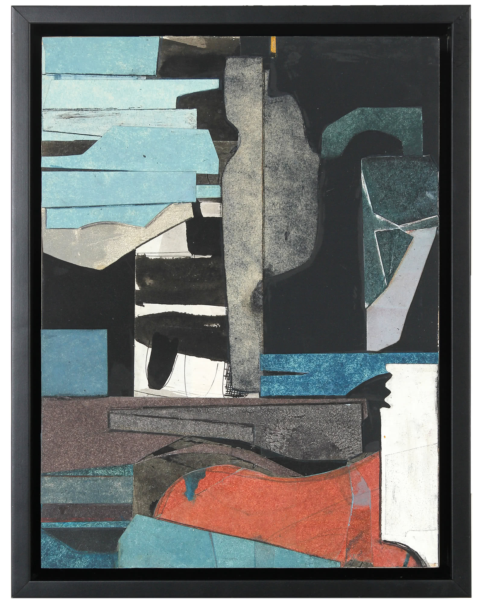 """""""Abstract Mixed Media Collage"""" by Rob Delamater,"""