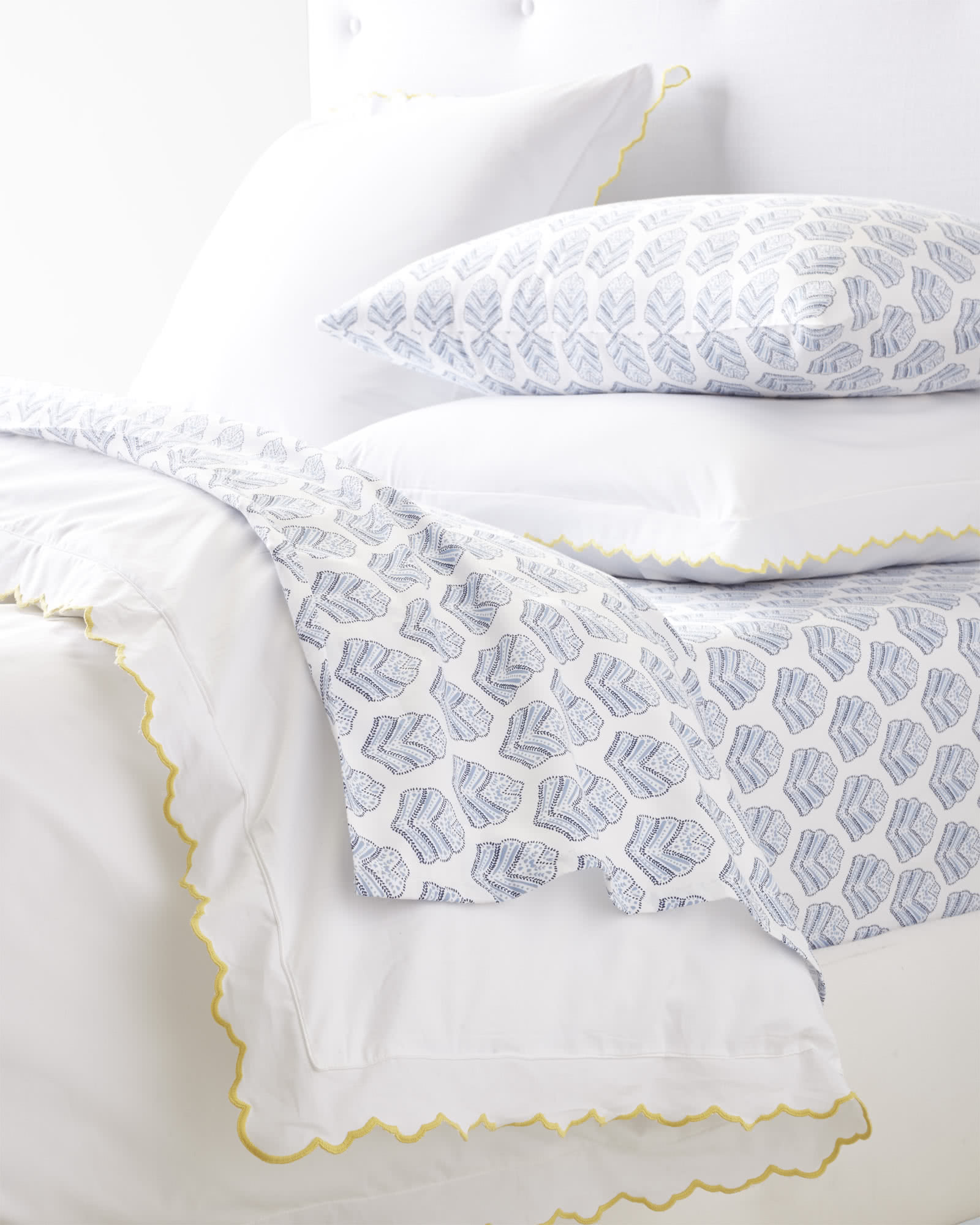 Scallop Embroidered Duvet Cover Sunshine Serena Amp Lily