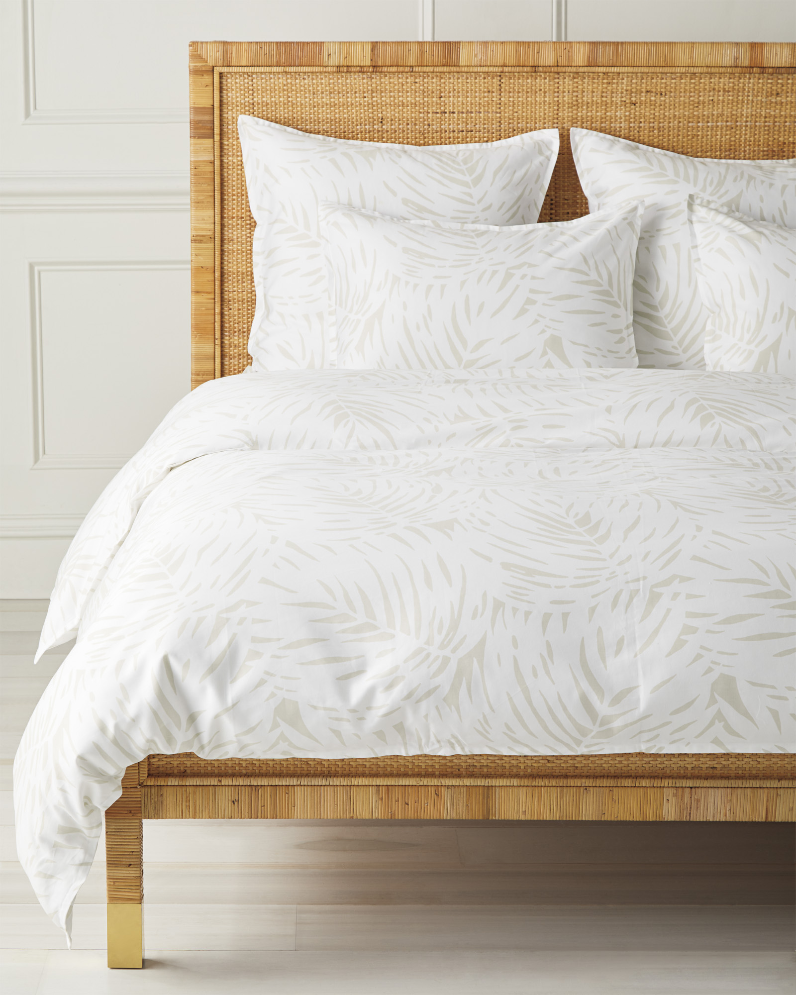 Palm Duvet Cover, Sand