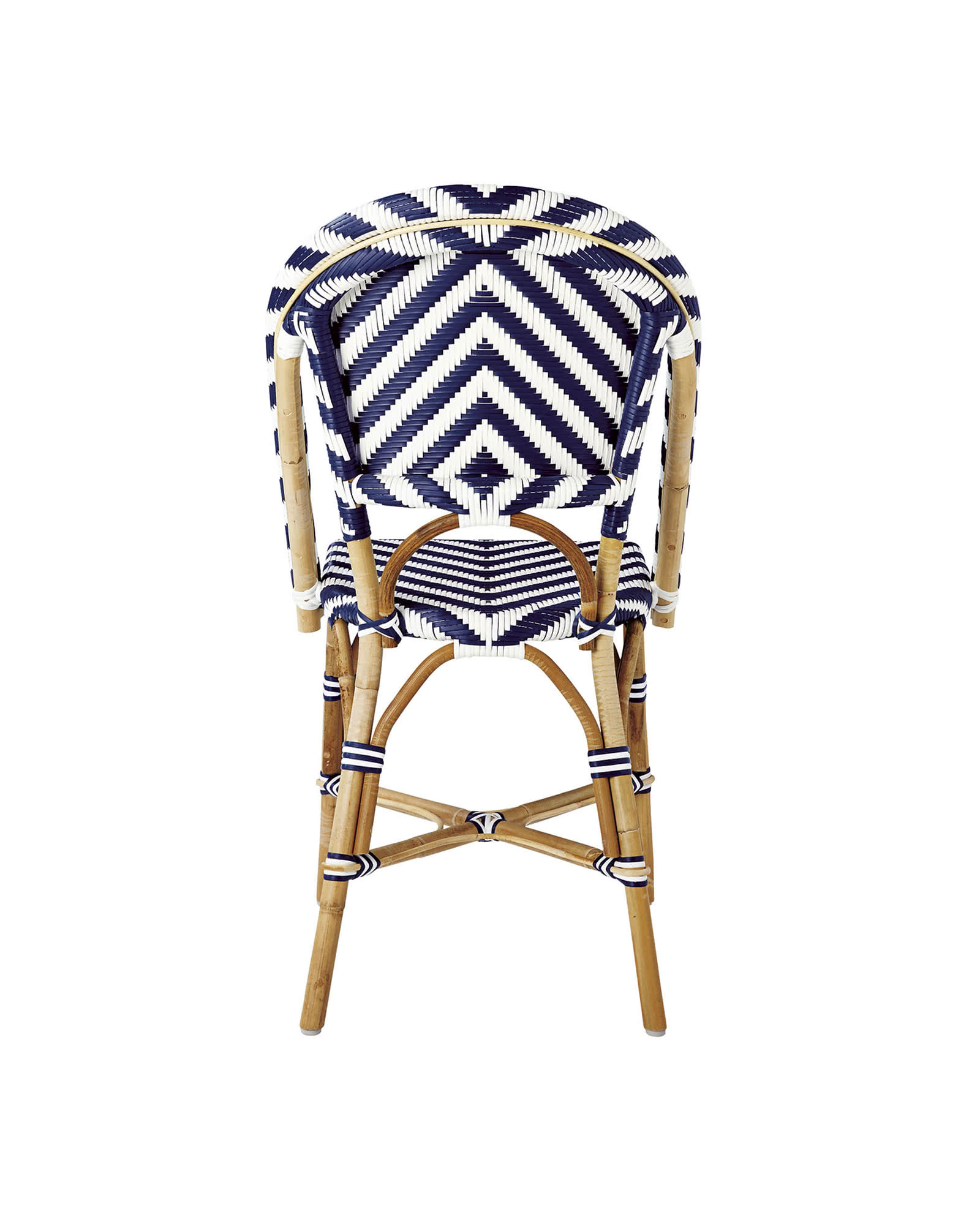 Chevron Riviera Side Chair, Navy