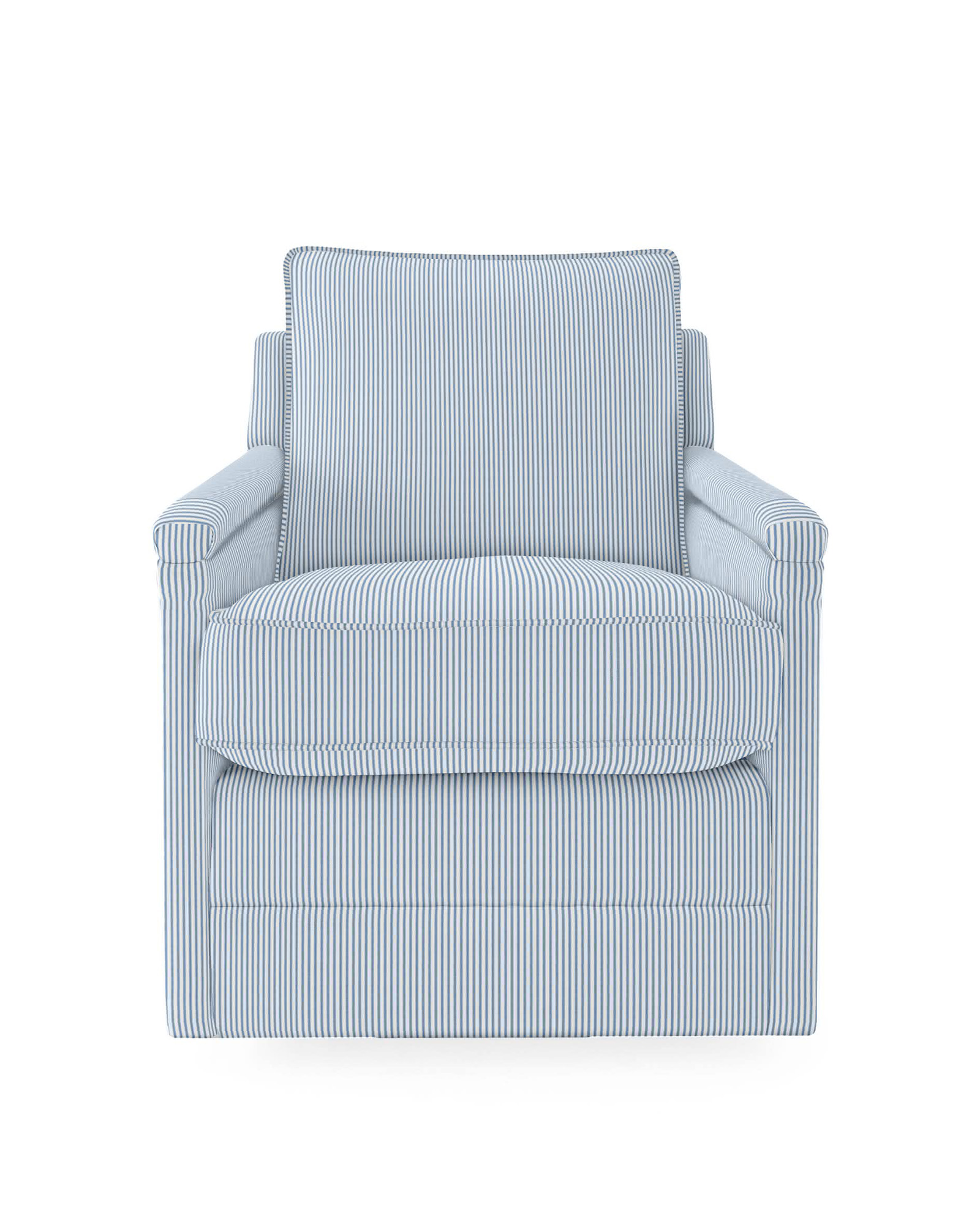 Spruce Street Swivel Chair - Perennials® French Blue Pinstripe,