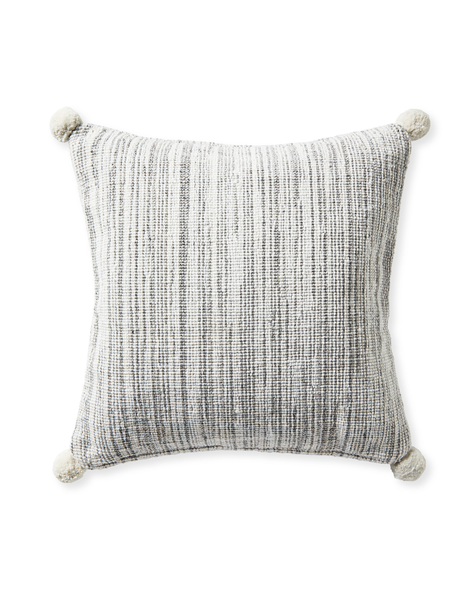 Bennington Pillow Cover, Heathered Grey
